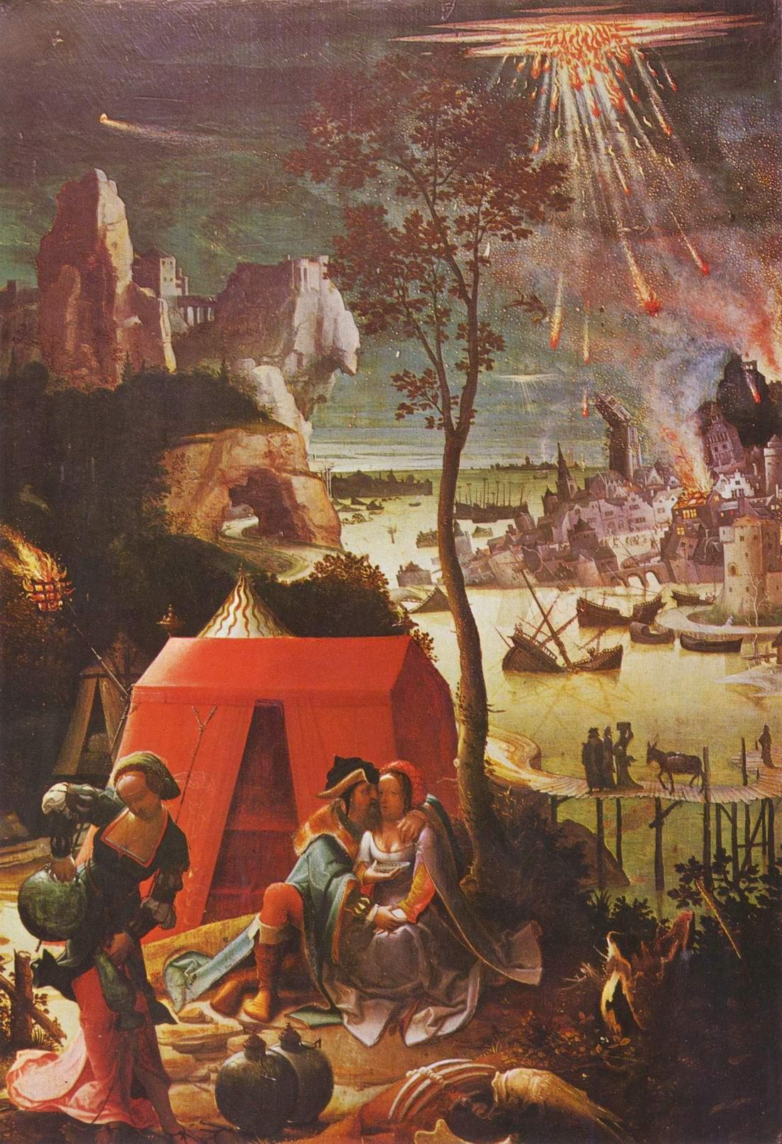 Лот и его дочери, Лукас ван Лейден