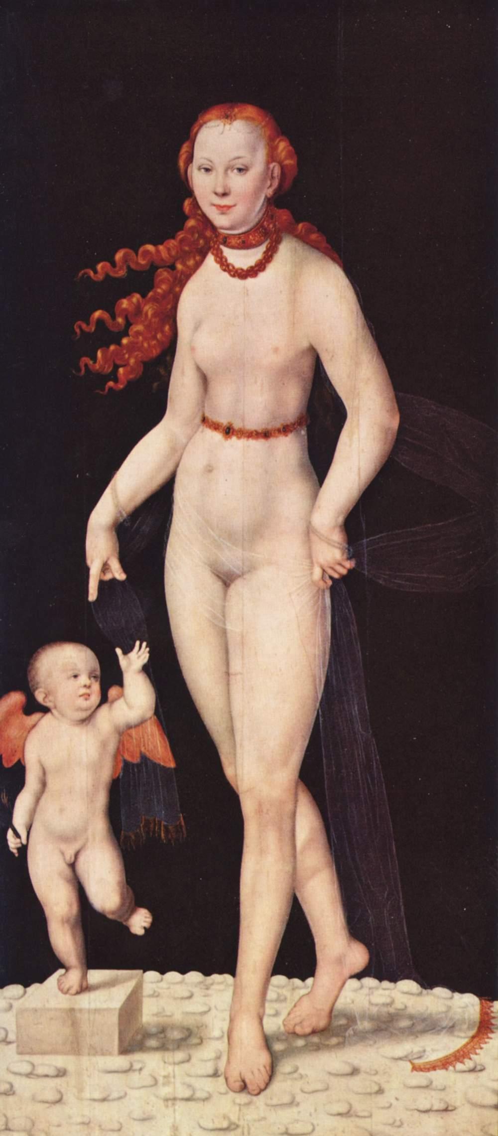 Венера и Купидон, Лукас Кранах Младший
