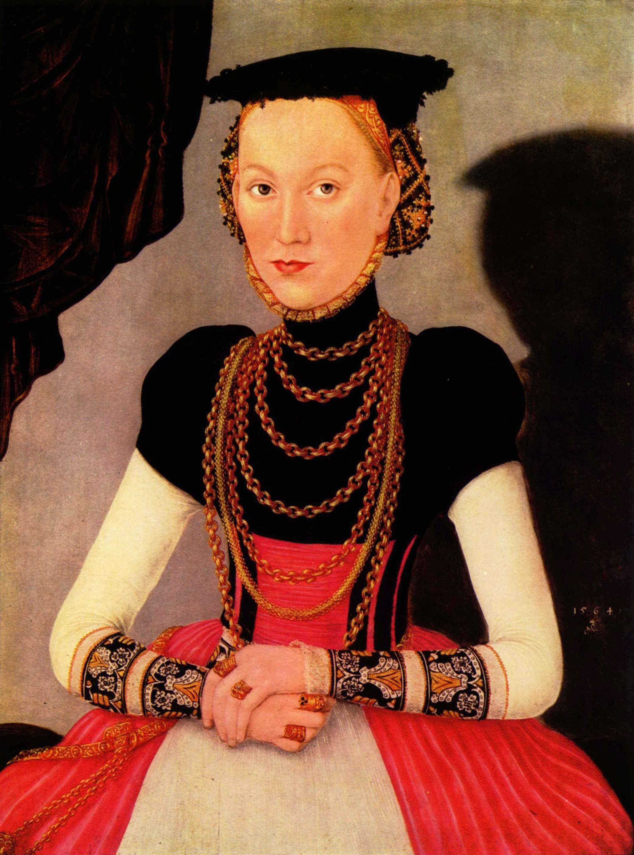 Портрет знатной дамы, Лукас Кранах Младший