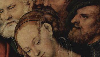 Христос и грешница. Деталь