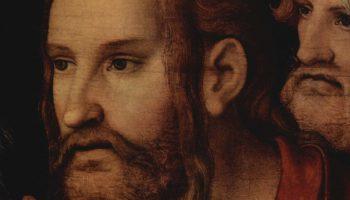 Христос и грешница. Деталь  Христос