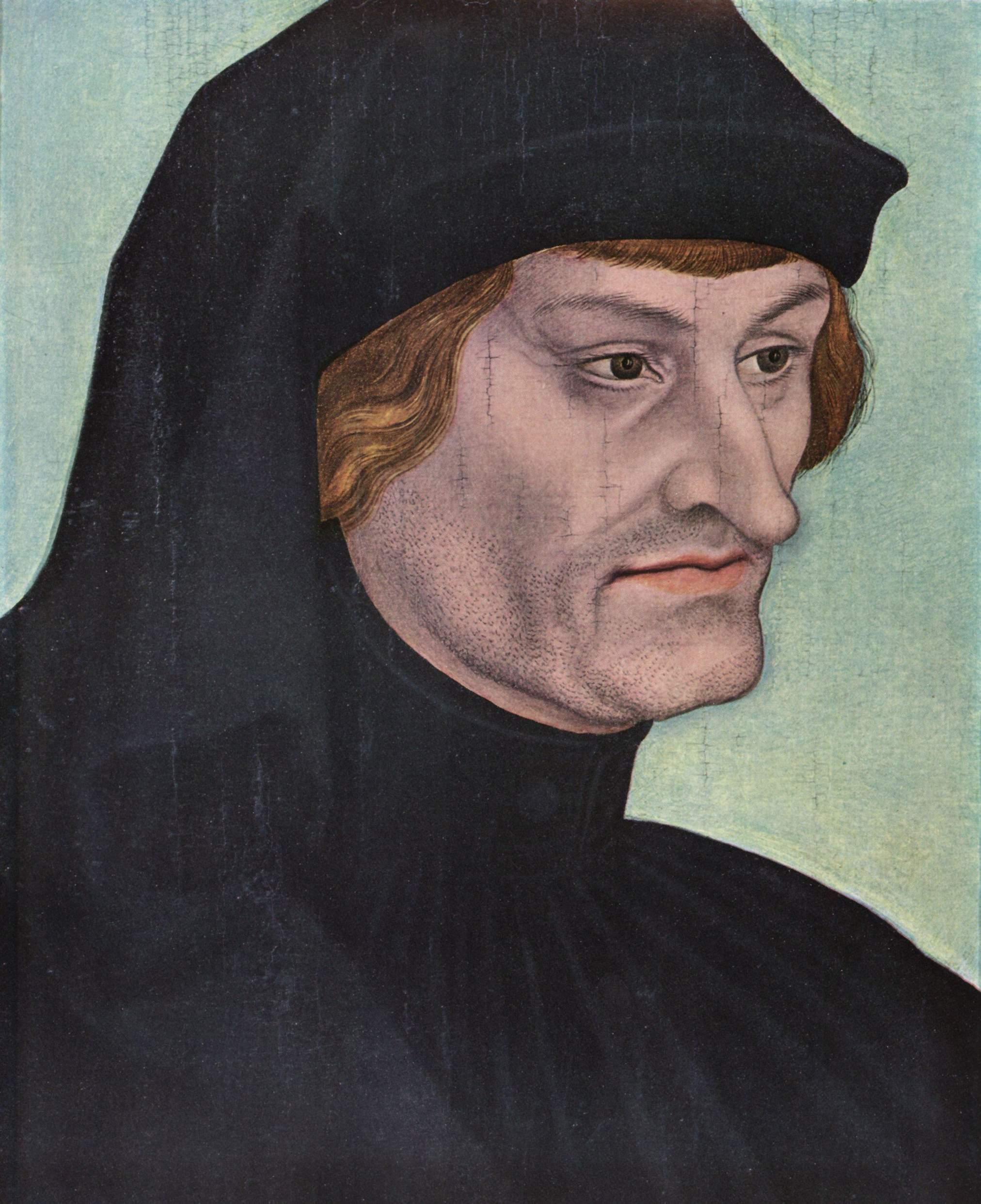 Портрет Иоганна Гайлера фон Кайзенберга, Лукас Кранах Старший