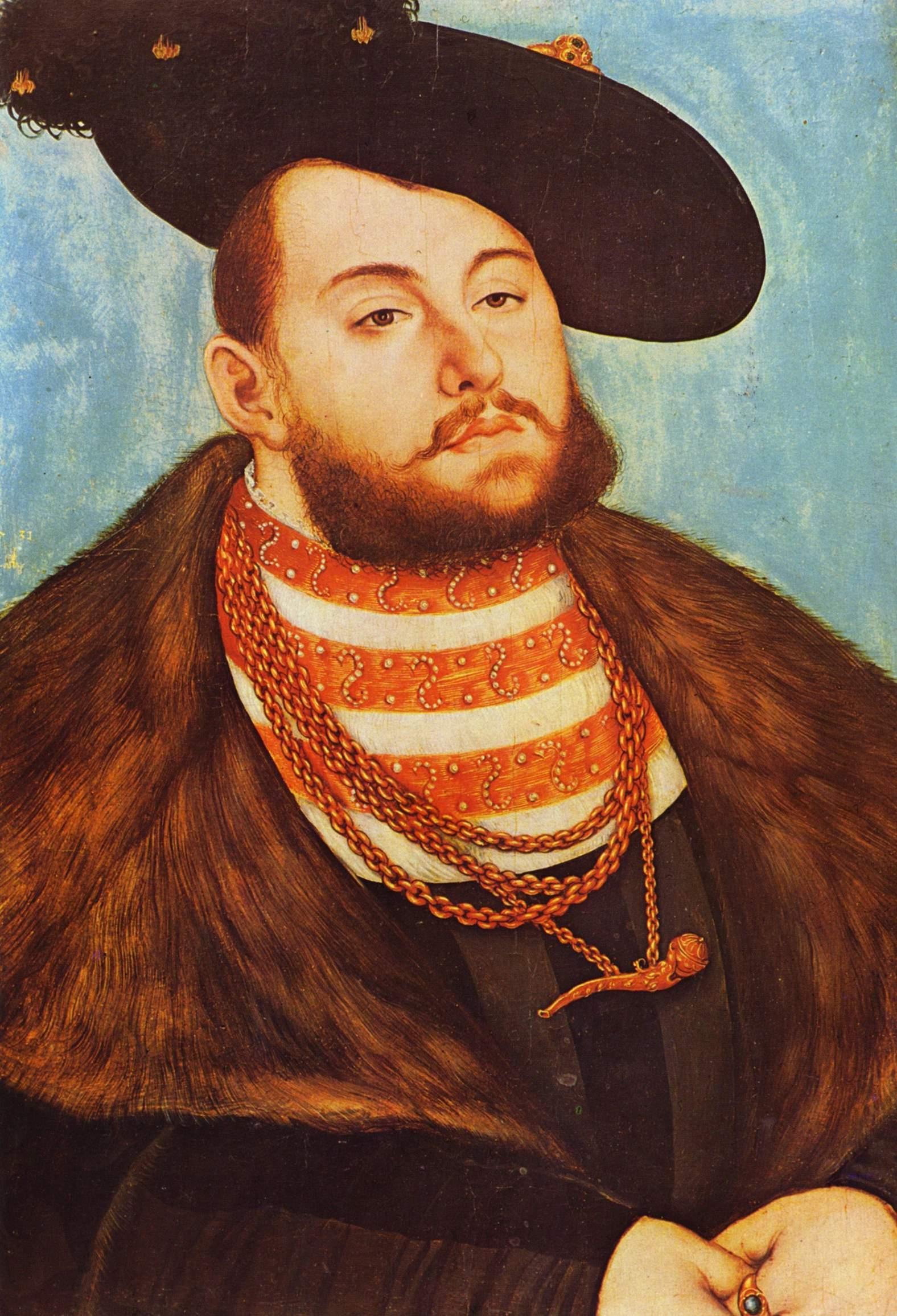 Портрет Иоанна Фридриха, курфюрста Саксонского, Лукас Кранах Старший