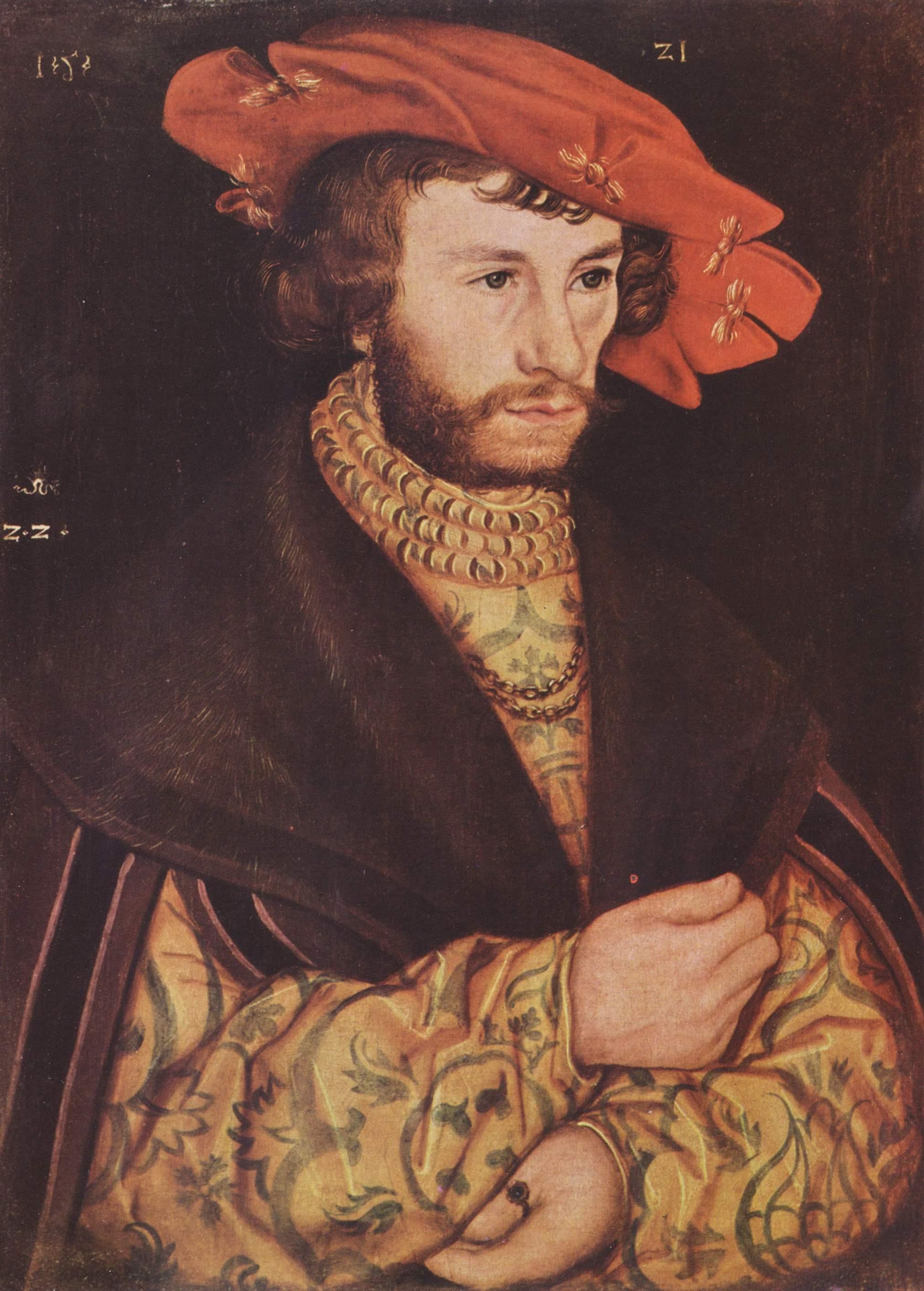 Портрет молодого мужчины в берете, Лукас Кранах Старший