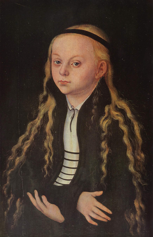 Портрет молодой девушки (Магдалены Лютер2a28, Лукас Кранах Старший