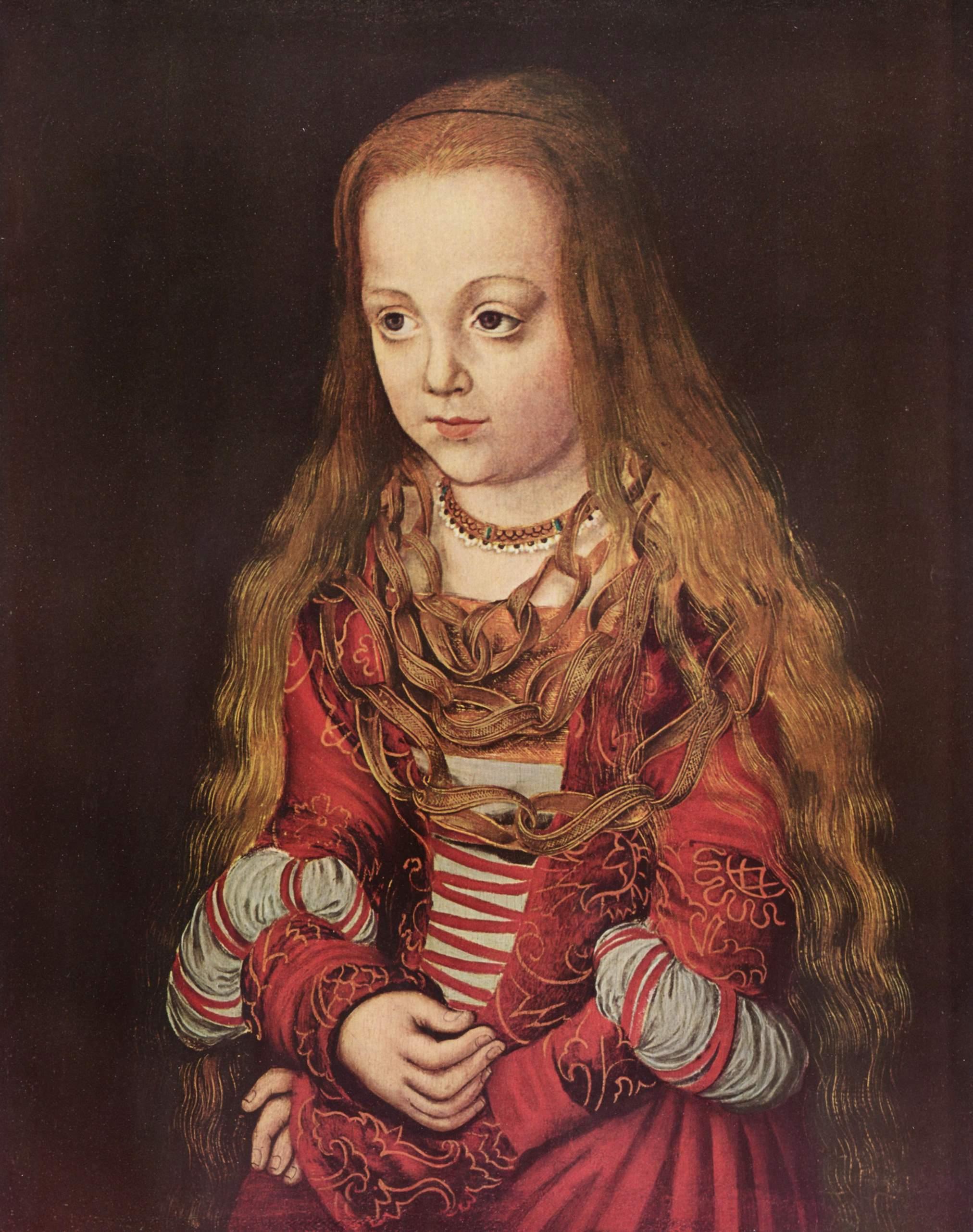 Портрет саксонской принцессы, Лукас Кранах Старший