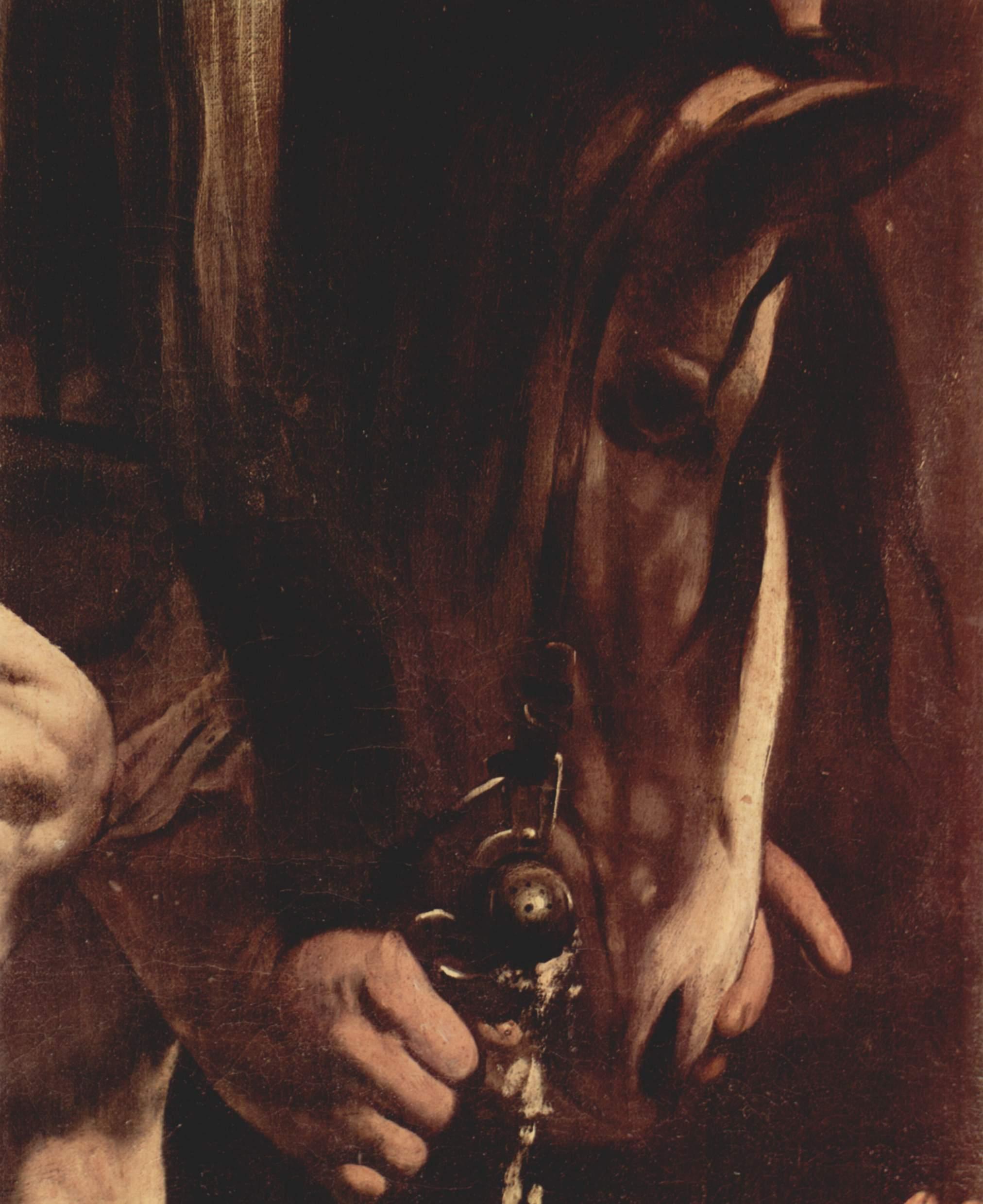 Картины из Капеллы Кераси в церкви Санта Мария дель Пополо в Риме, обращение Савла. Деталь, Микеланджело Меризи де Караваджо