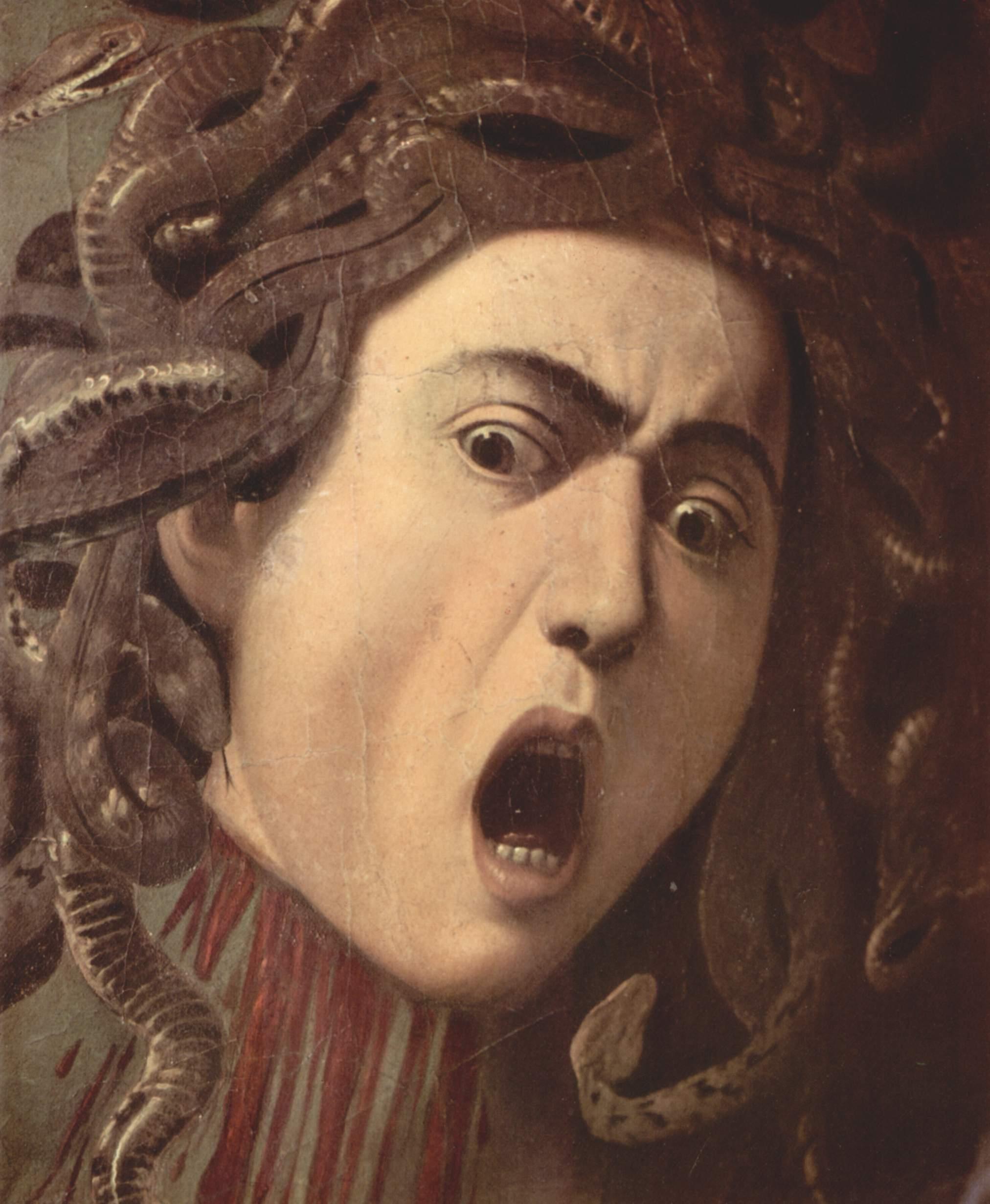 Голова Медузы. Деталь, Микеланджело Меризи де Караваджо