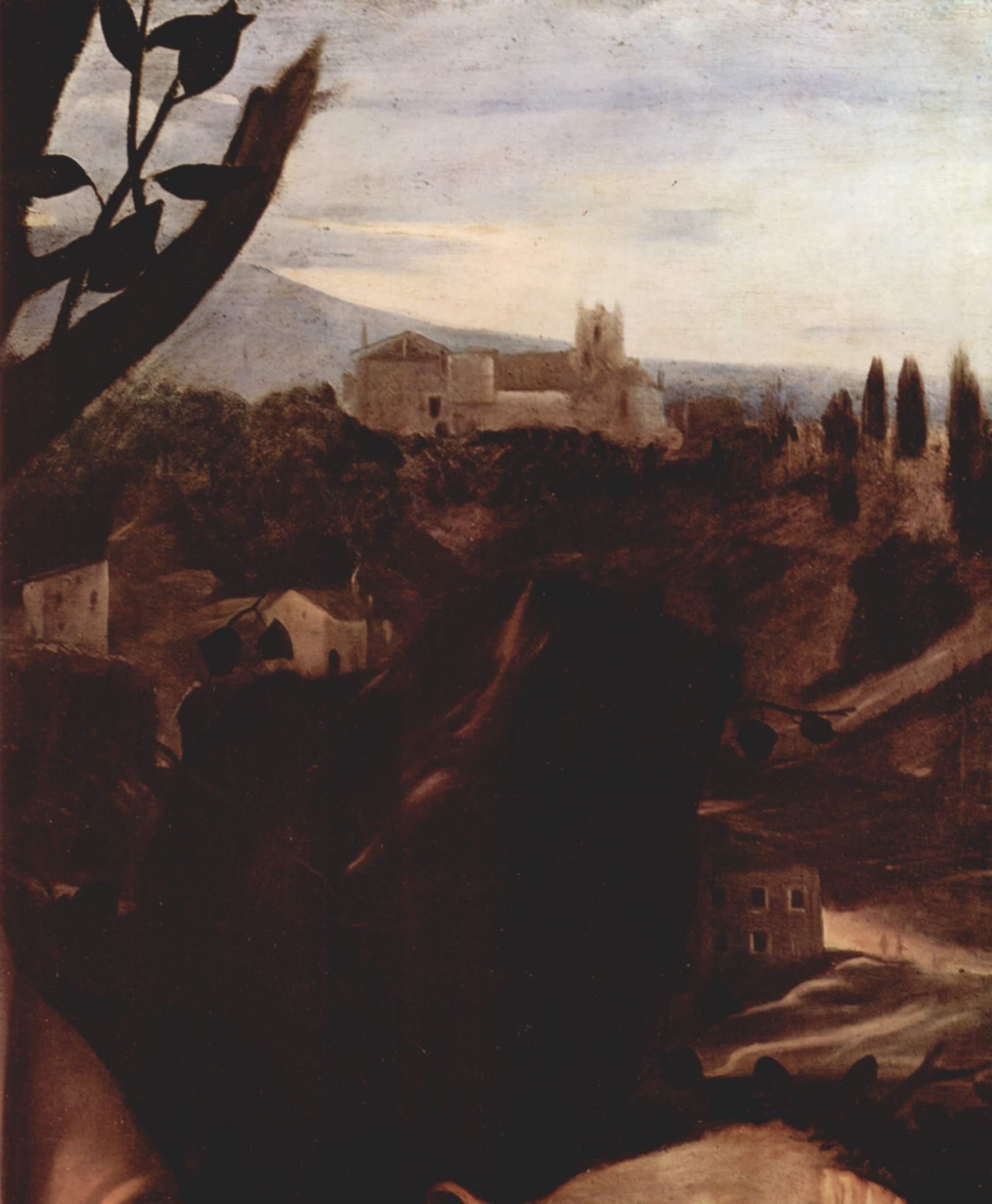 Жертвоприношение Авраама. Деталь  пейзаж, Микеланджело Меризи де Караваджо