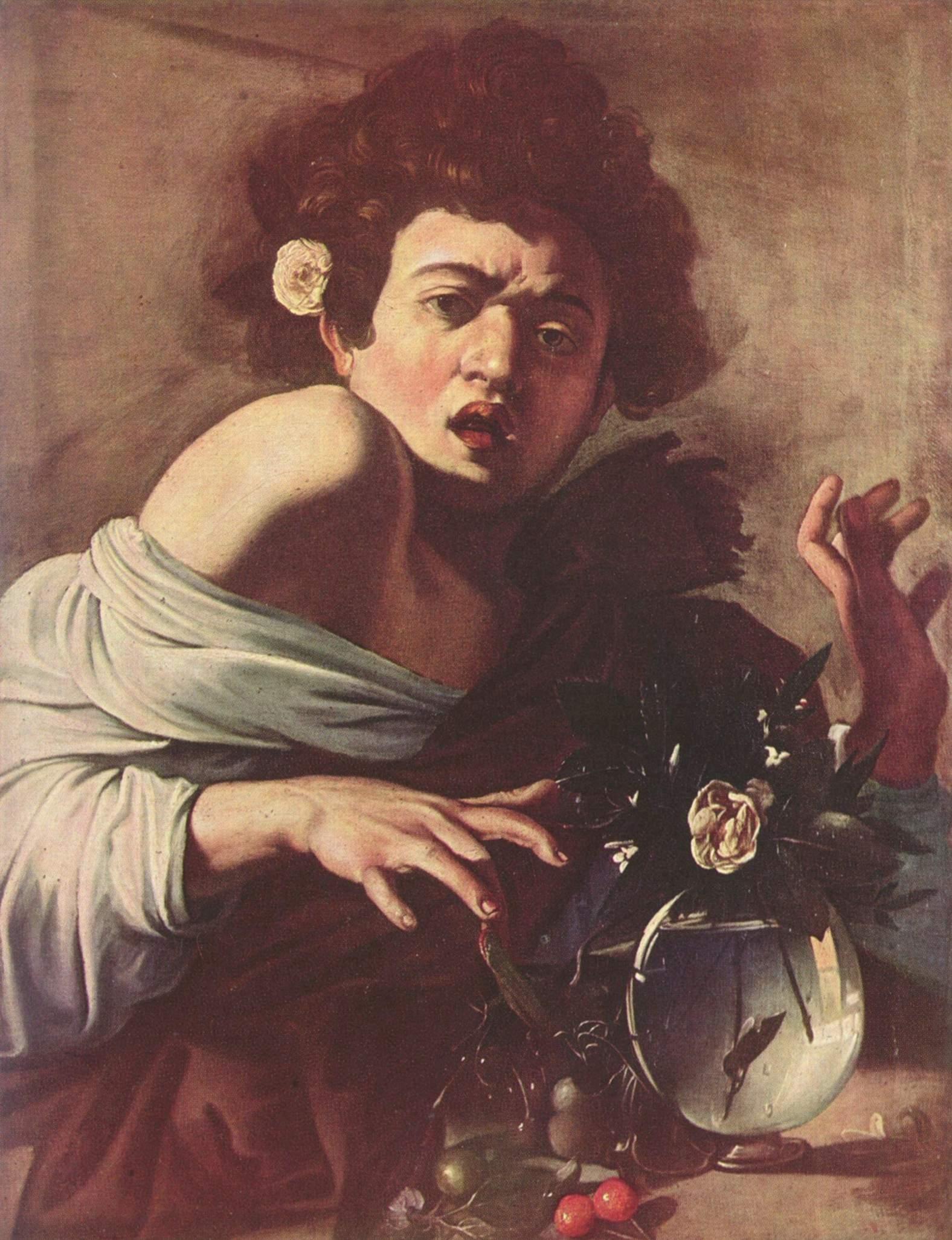 Юноша, укушенный ящерицей, Микеланджело Меризи де Караваджо