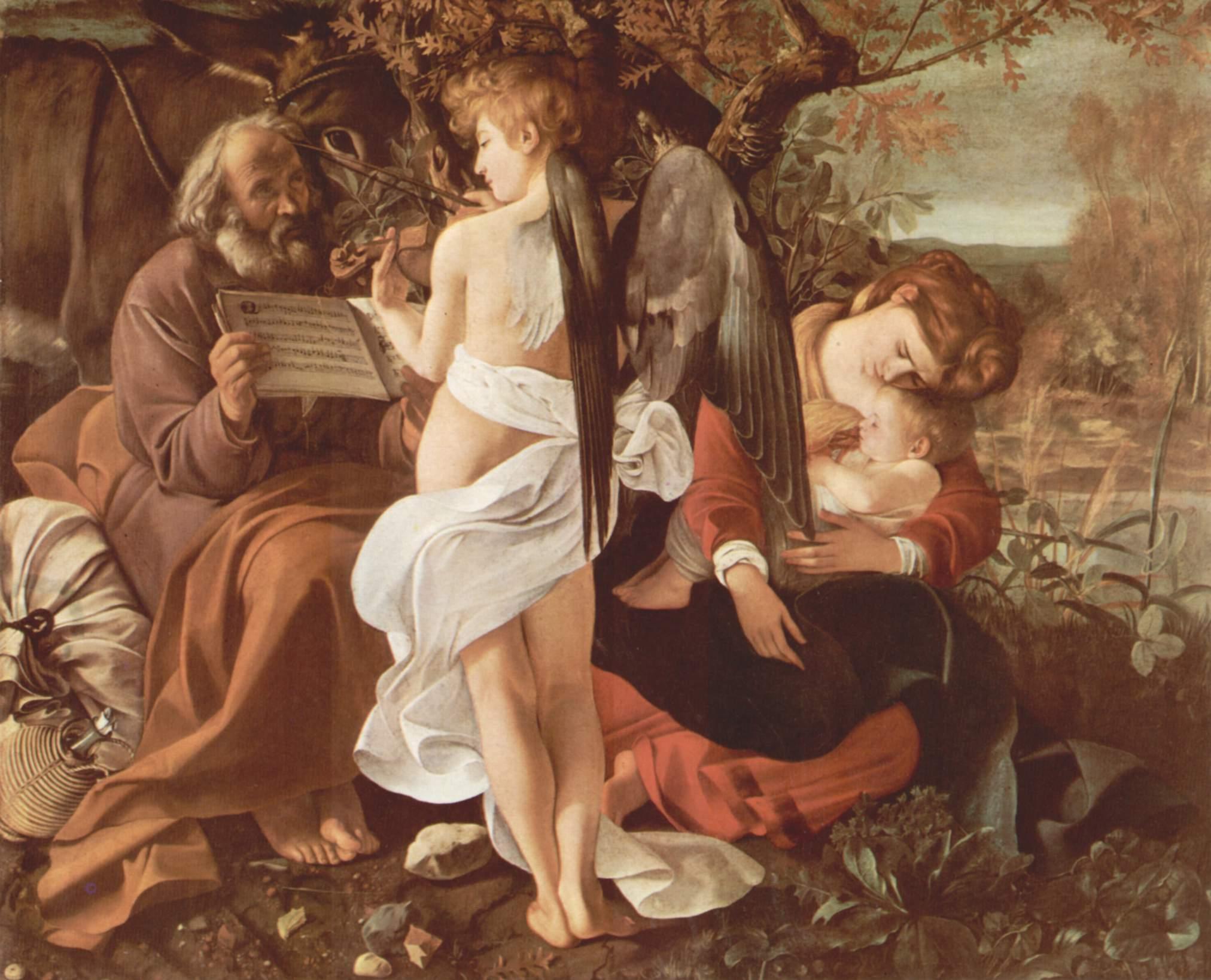 Отдых на пути в Египет, Микеланджело Меризи де Караваджо