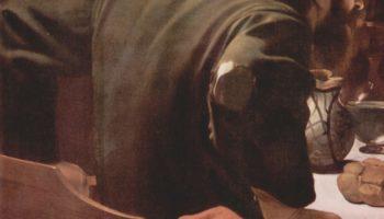 Христос в Эммаусе. Деталь