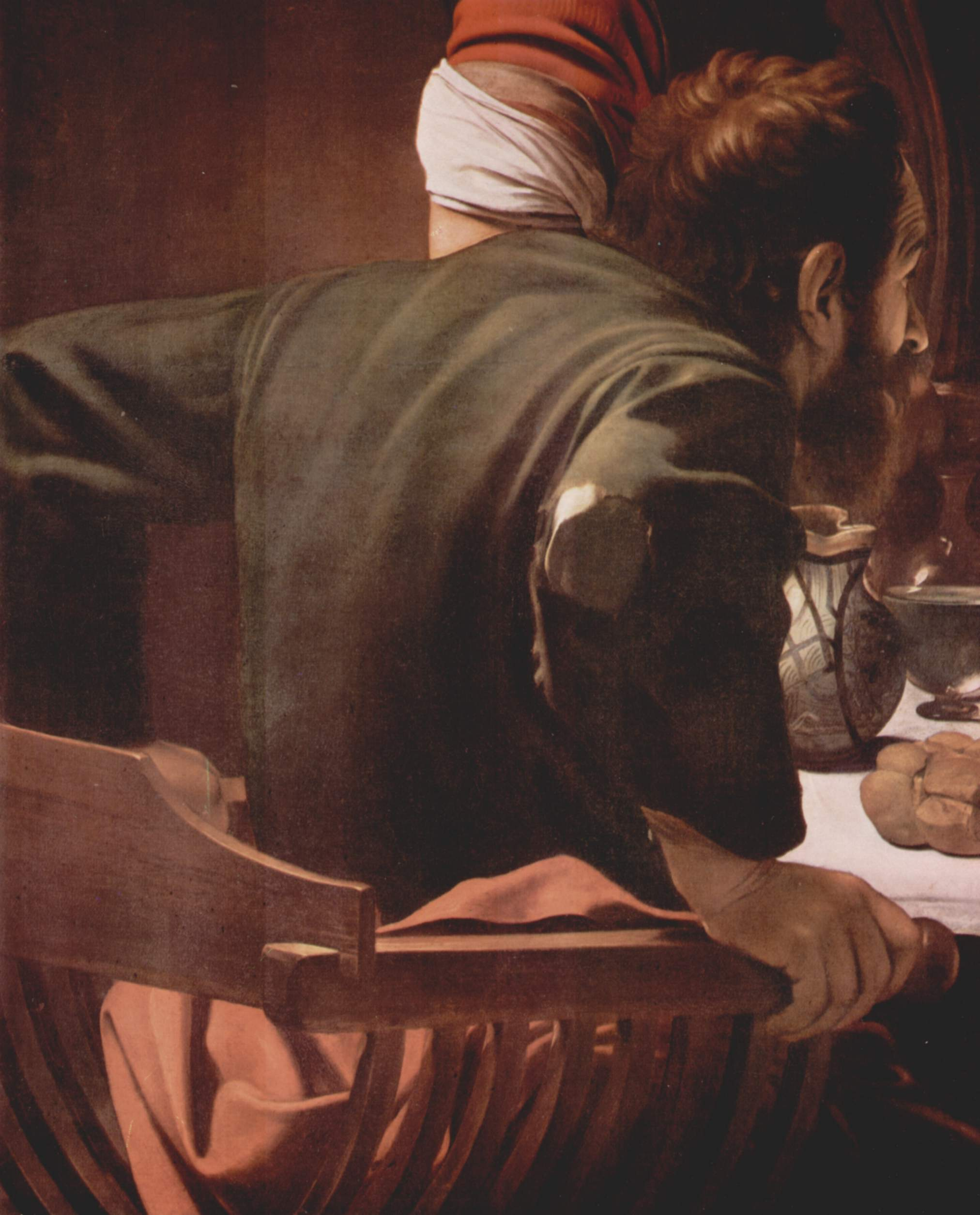 Христос в Эммаусе. Деталь, Микеланджело Меризи де Караваджо