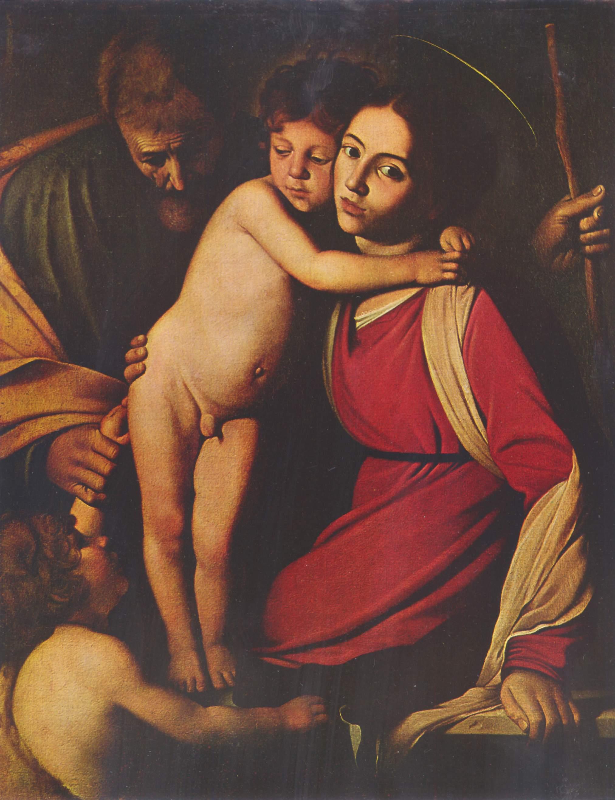 Святое семейство с Иоанном Крестителем, Микеланджело Меризи де Караваджо