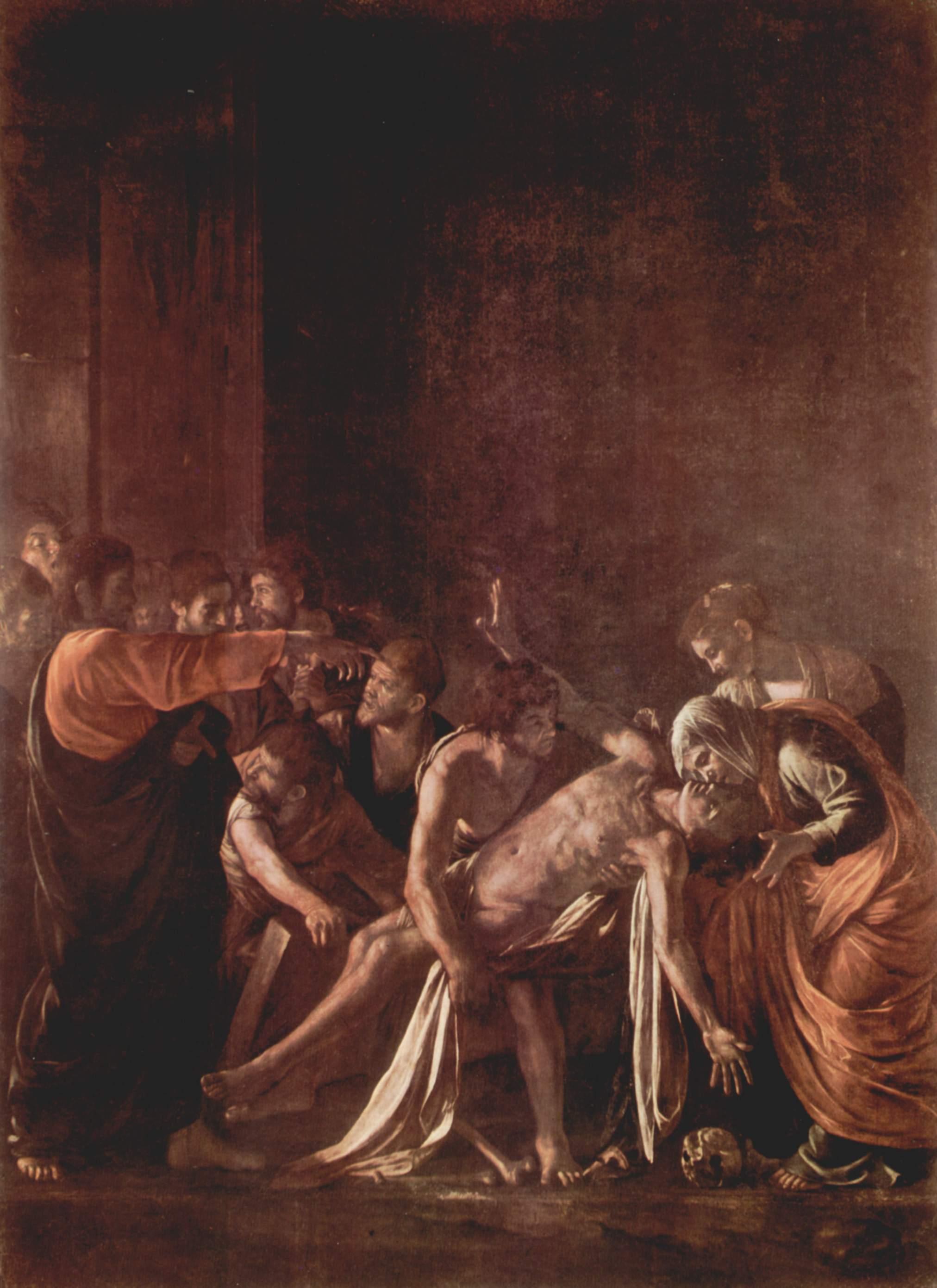Воскрешение Лазаря, Микеланджело Меризи де Караваджо