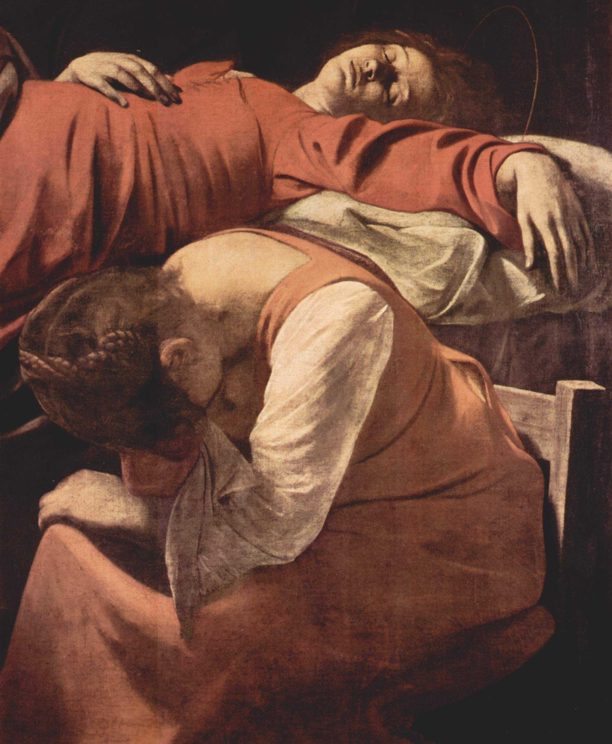 Смерть Марии. Деталь, Микеланджело Меризи де Караваджо