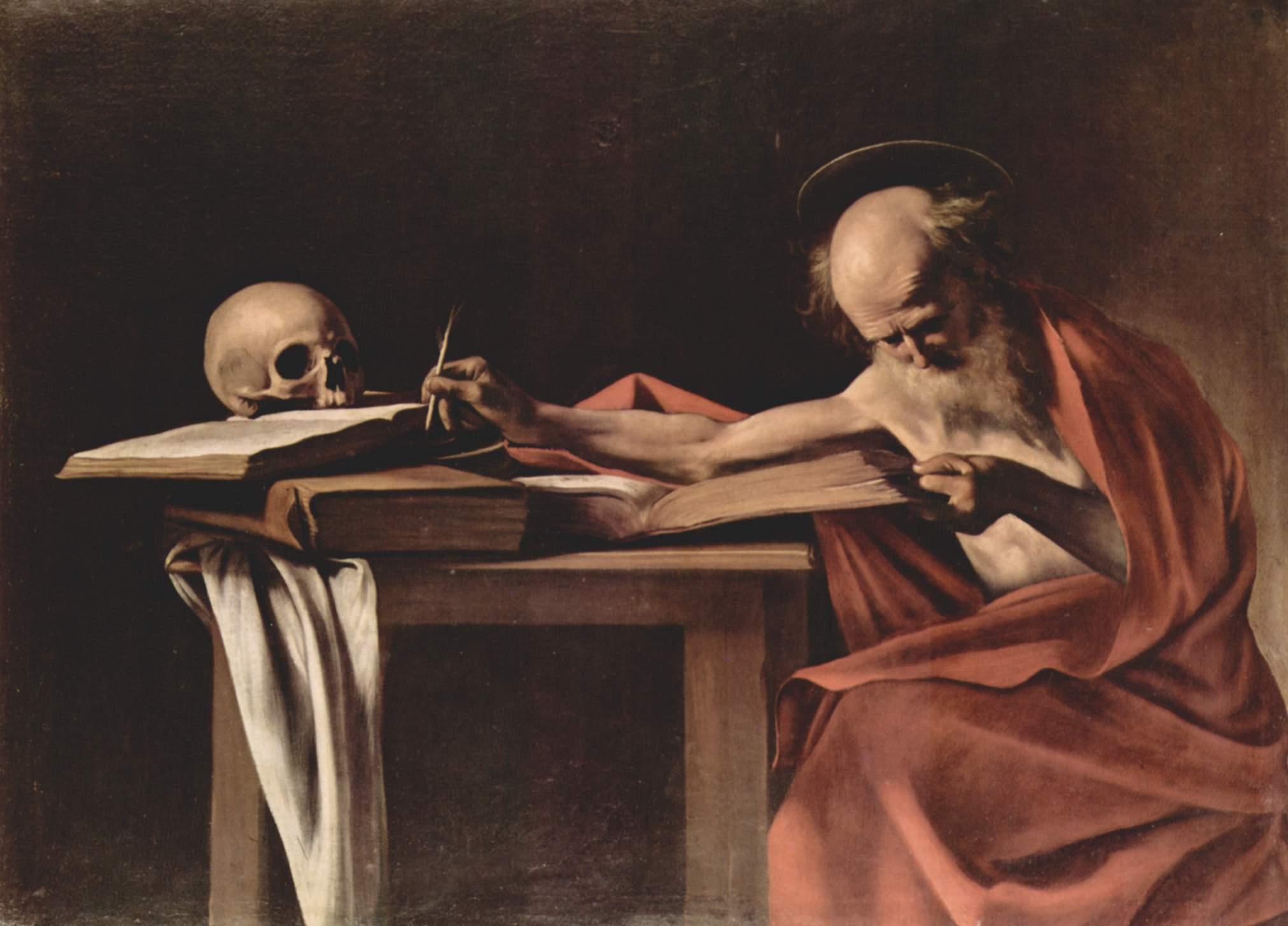Пишущий св. Иероним, Микеланджело Меризи де Караваджо