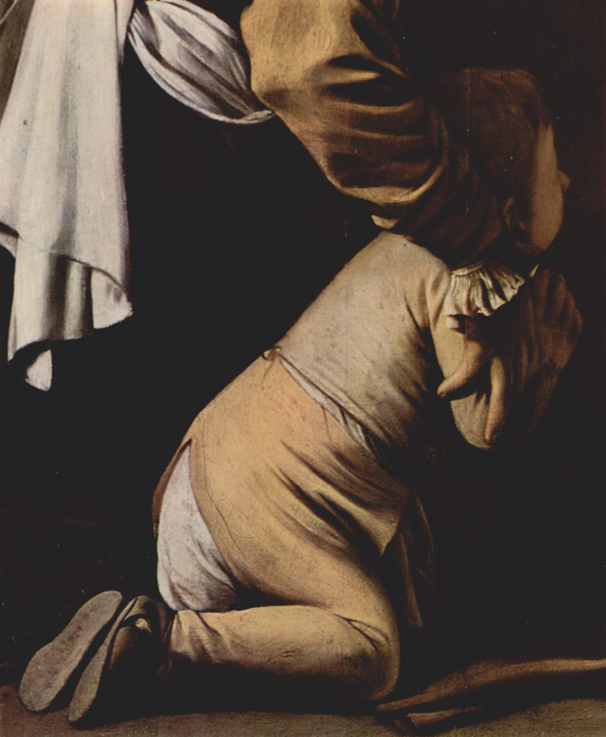 Мадонна с четками. Деталь, Микеланджело Меризи де Караваджо