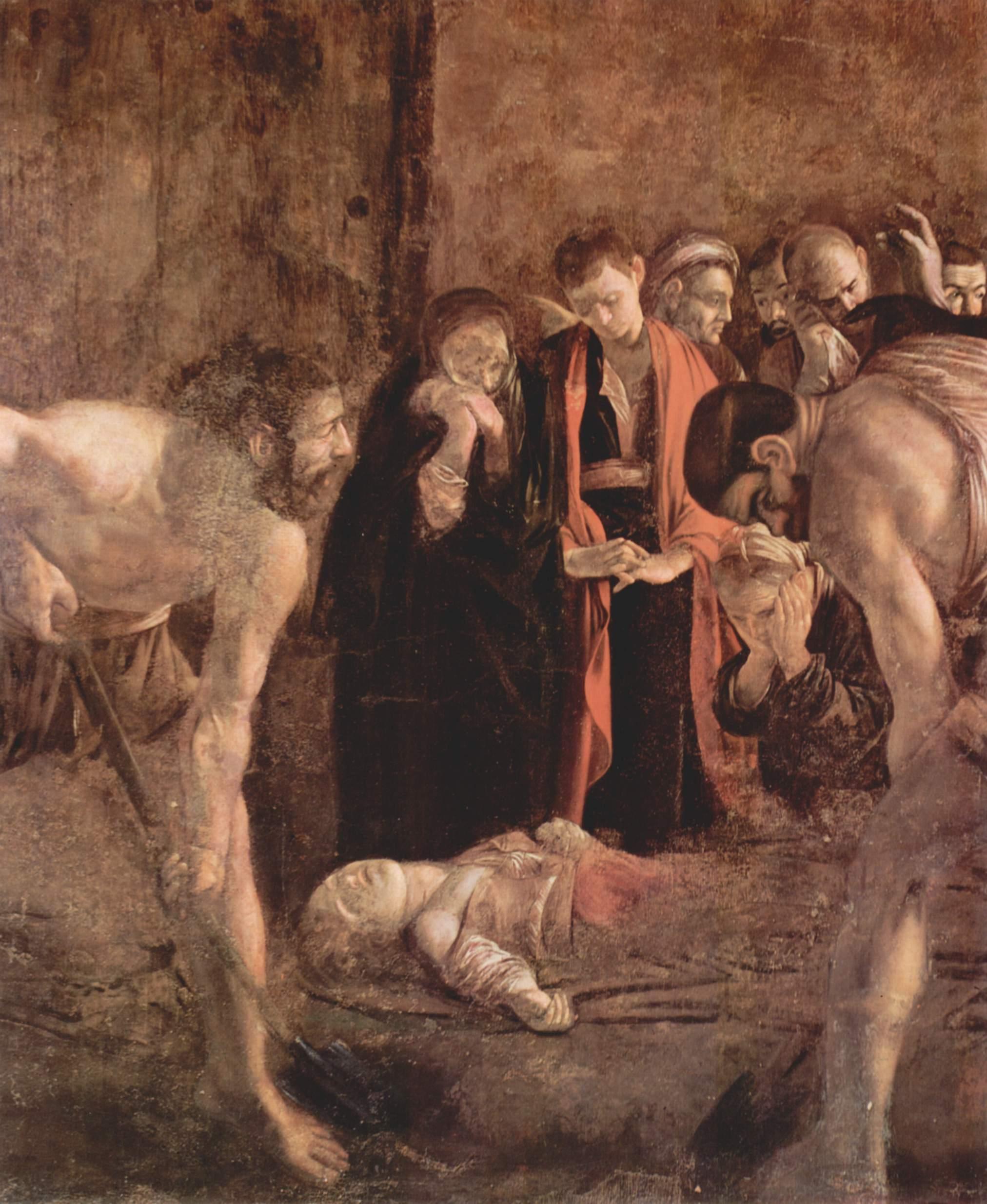 Погребение св. Лучии, Микеланджело Меризи де Караваджо