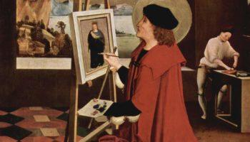 Св. Лука, рисующий Мадонну, створка алтаря