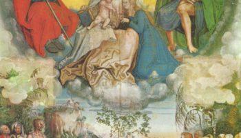 Св. Анна с Мадонной и младенцем Христом, св. Иаков и св. Рох как заступники за людей, страдающих от