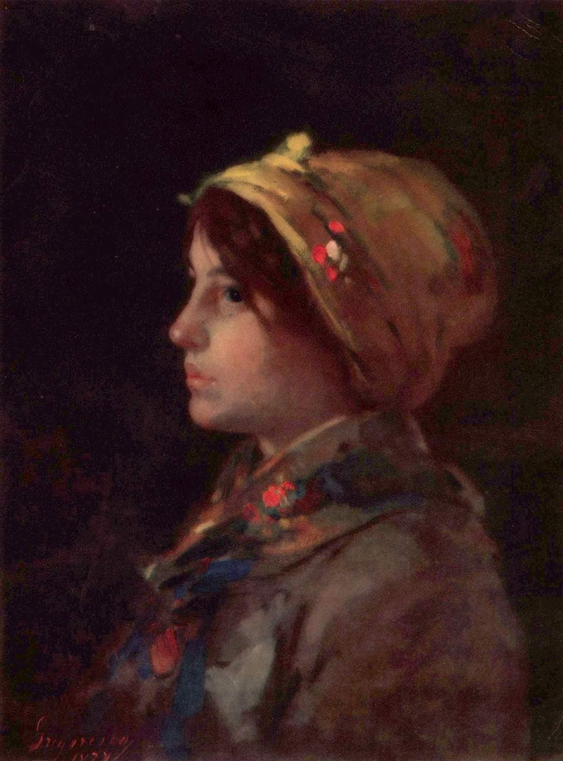 Голова молодой крестьянки, Николае Григореску
