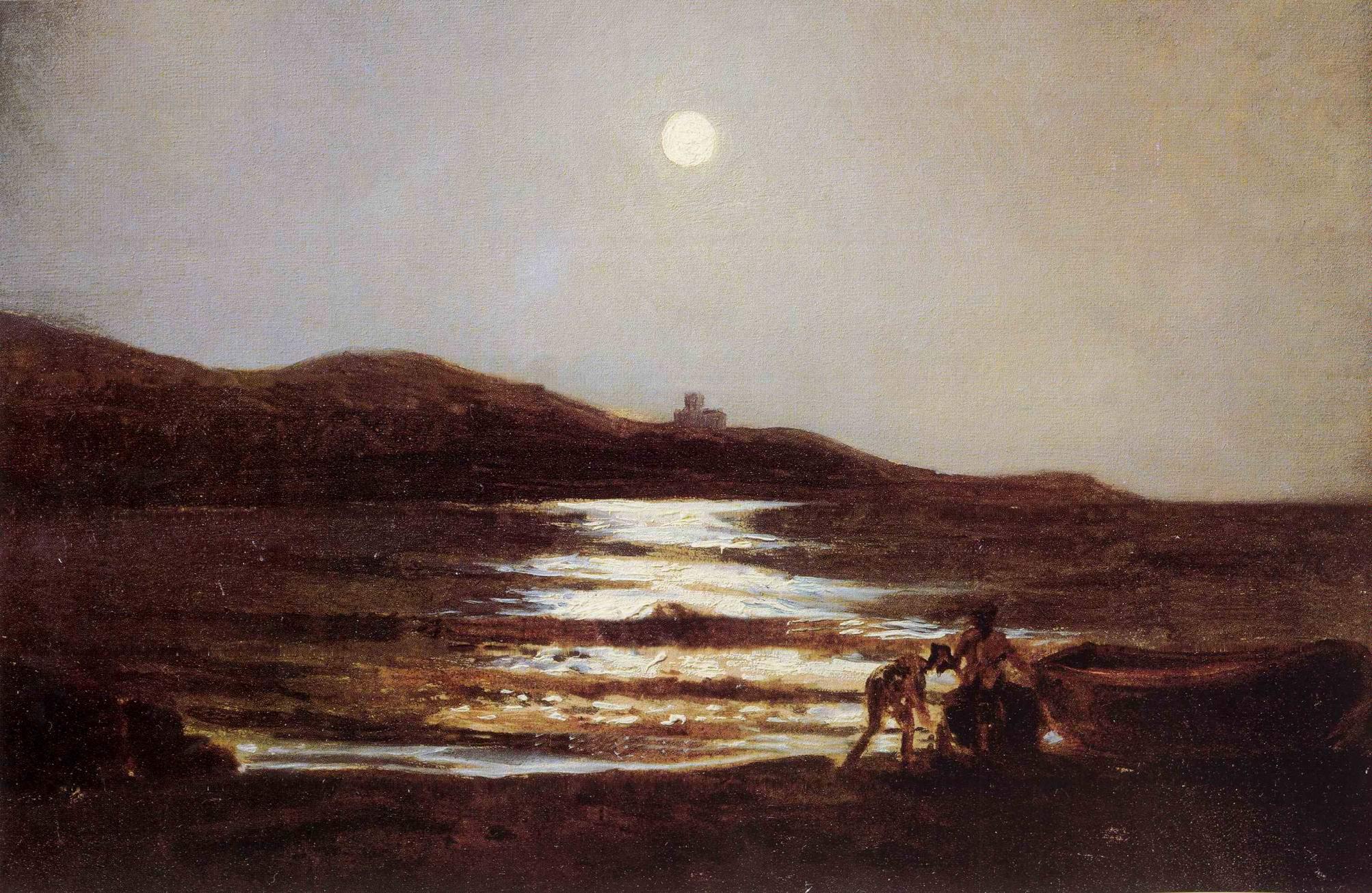 Вид из Санто-Теренцо на Леричи ночью, Николай Николаевич Ге