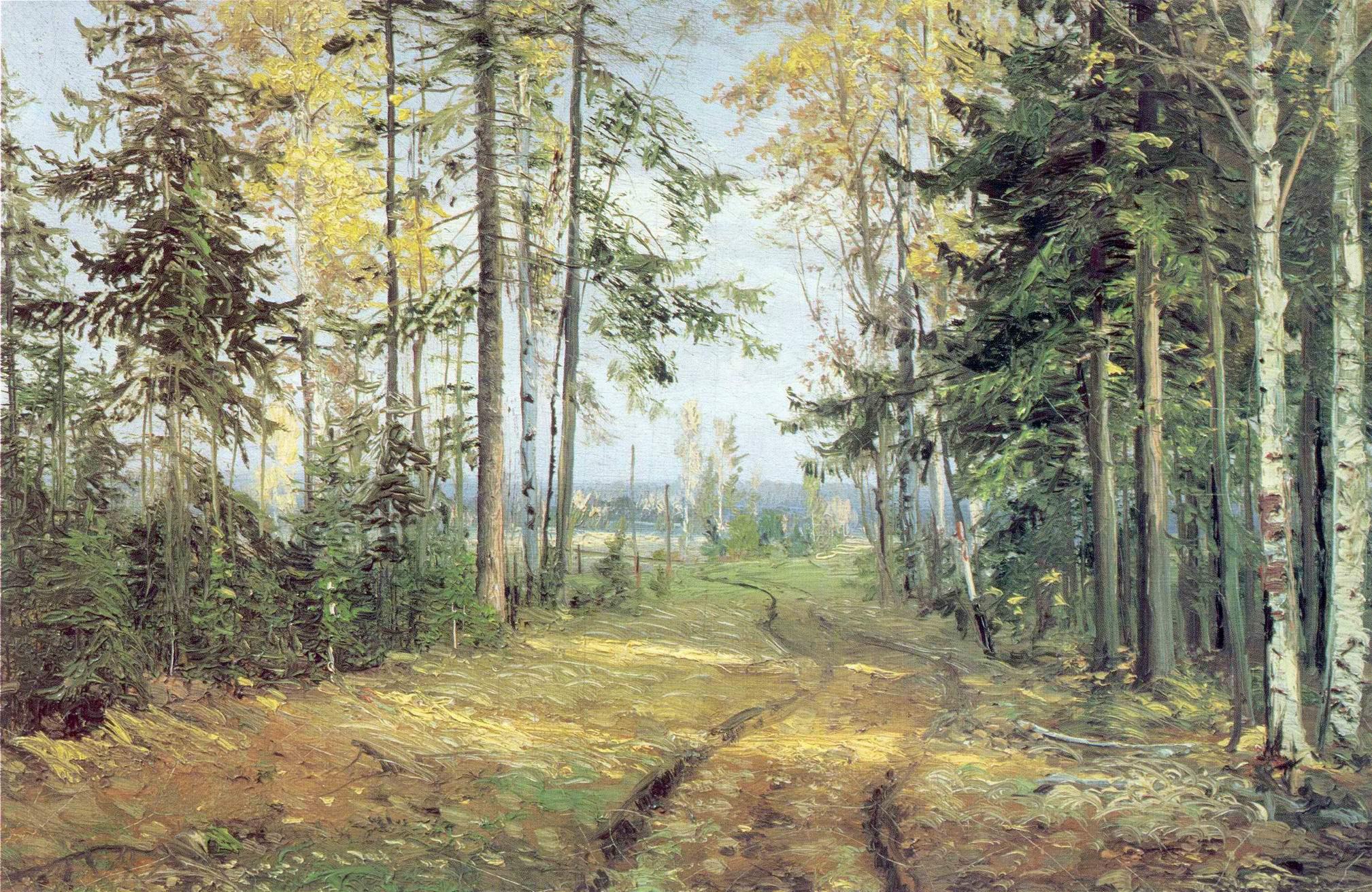 Дорога в лесу, Николай Николаевич Ге