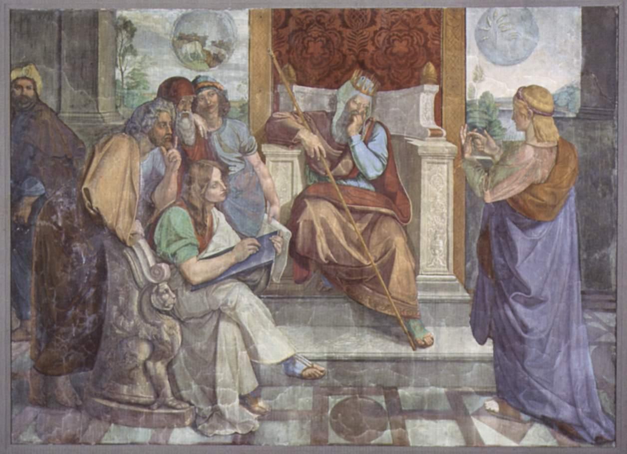 Фрески Каза Бартольди в Риме. Иосиф истолковывает сны фараона, Петер фон Корнелиус