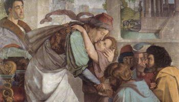 Фрески Каза Бартольди в Риме. Иосиф открывается своим братьям. Деталь