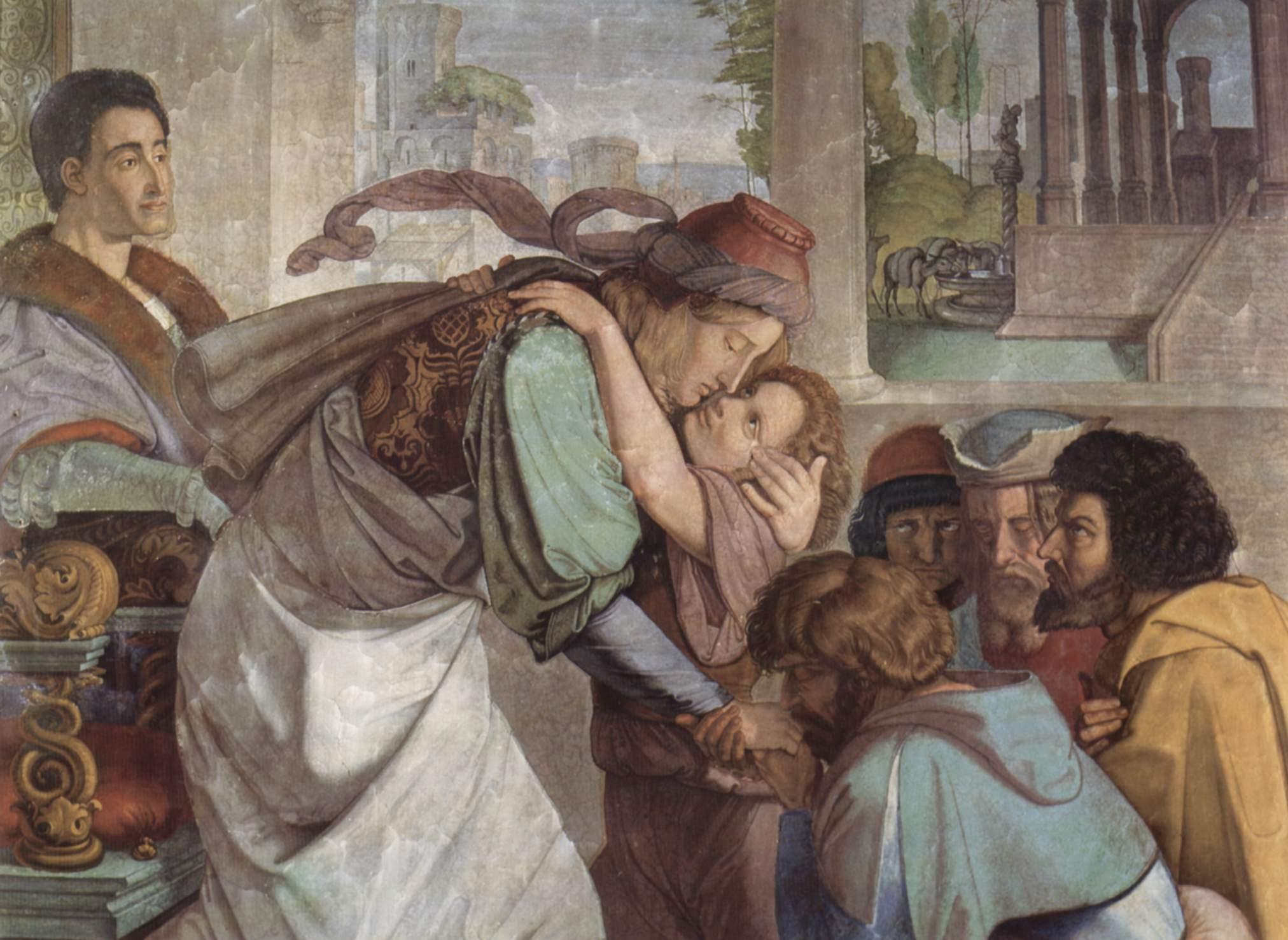 Фрески Каза Бартольди в Риме. Иосиф открывается своим братьям. Деталь, Петер фон Корнелиус