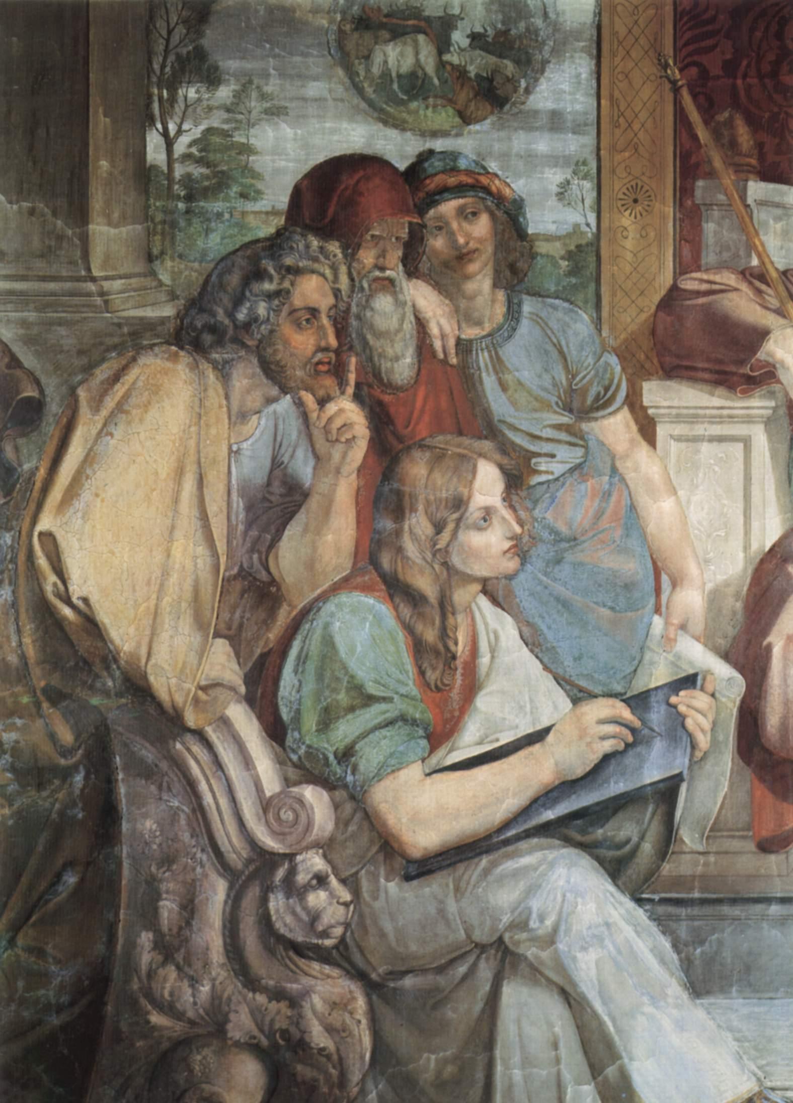 Фрески Каза Бартольди в Риме. Иосиф истолковывает сны фараона. Деталь, Петер фон Корнелиус