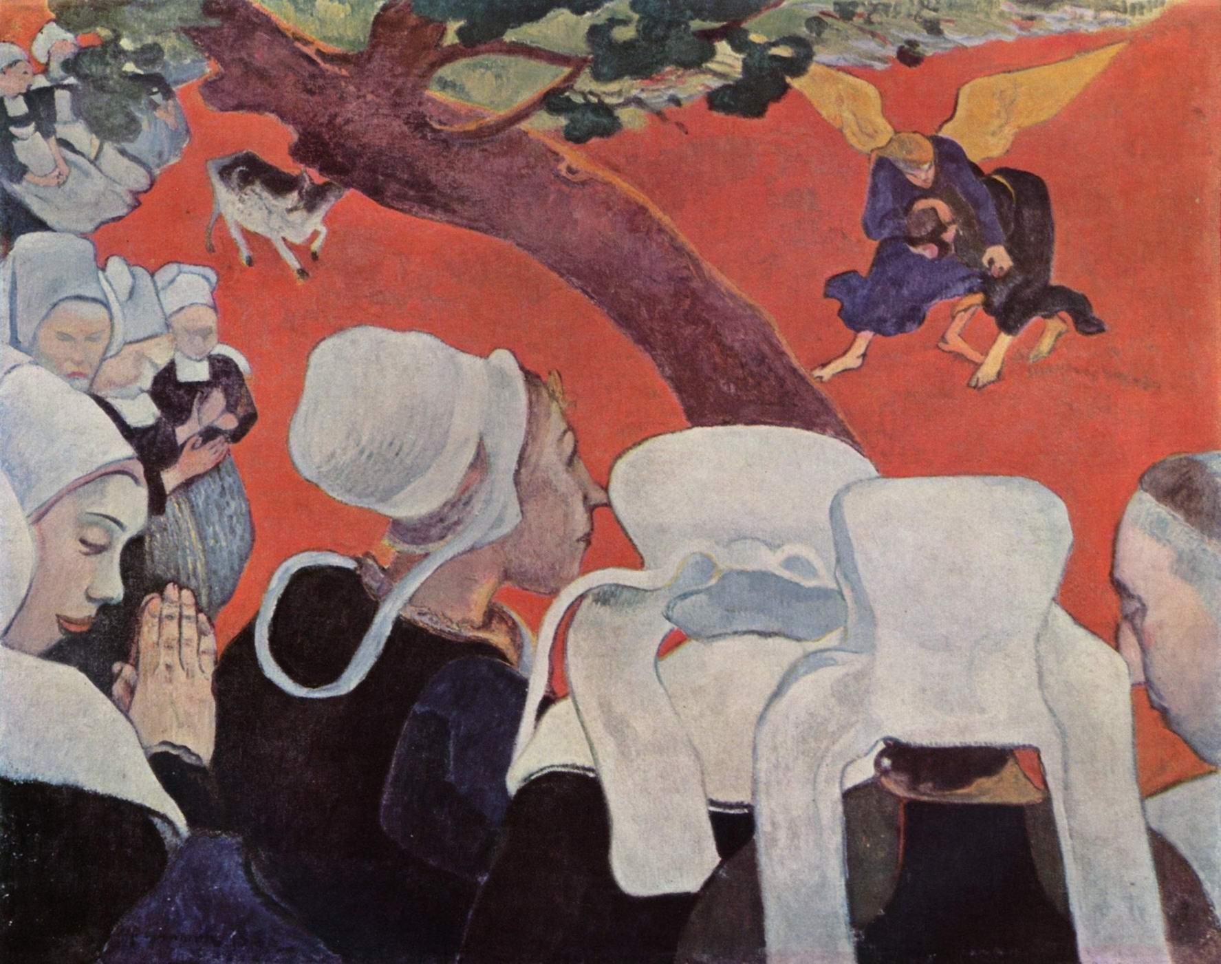 Видение после проповеди (Борьба Иакова с ангелом), Поль Гоген
