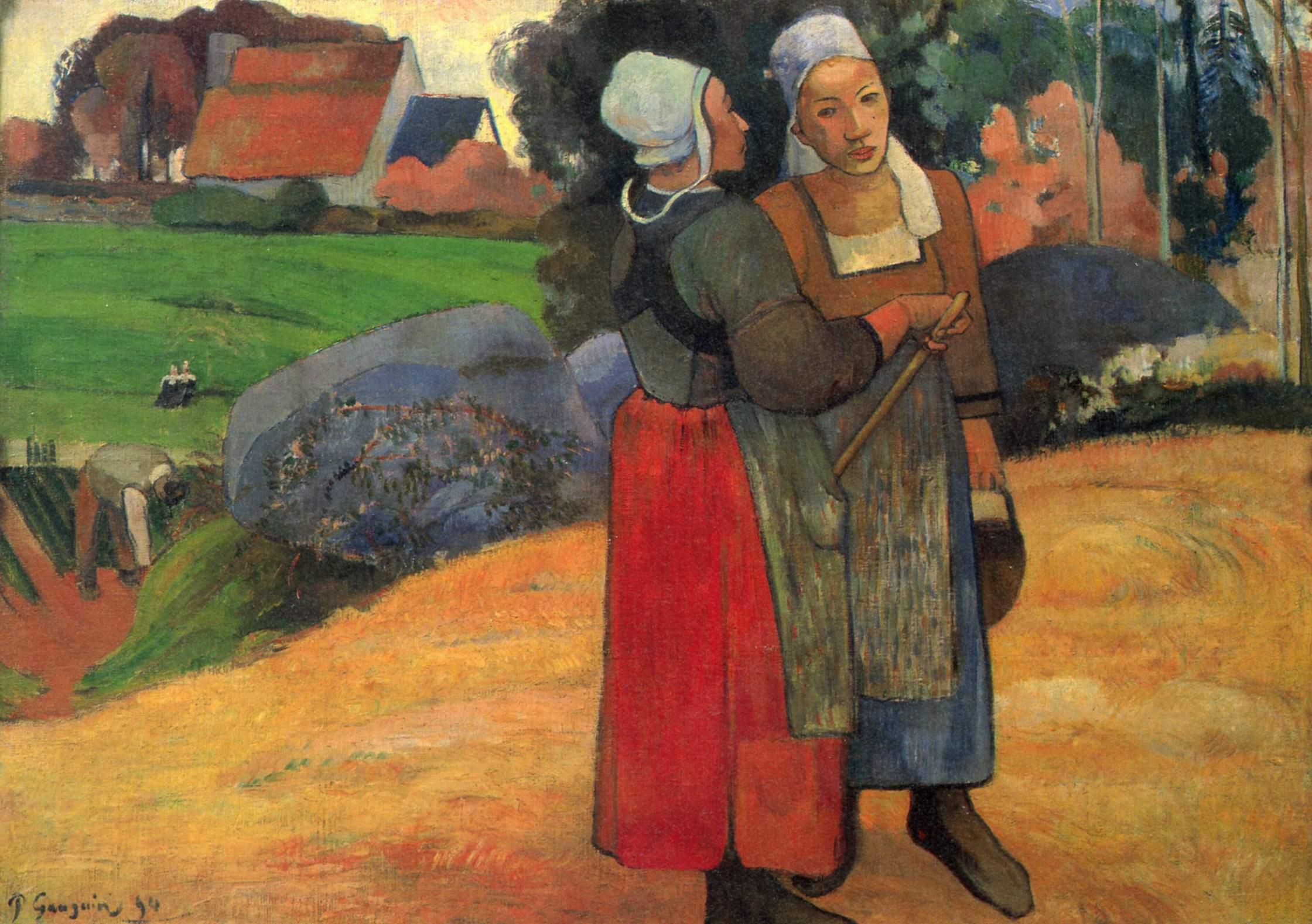 Бретонские крестьянки, Поль Гоген