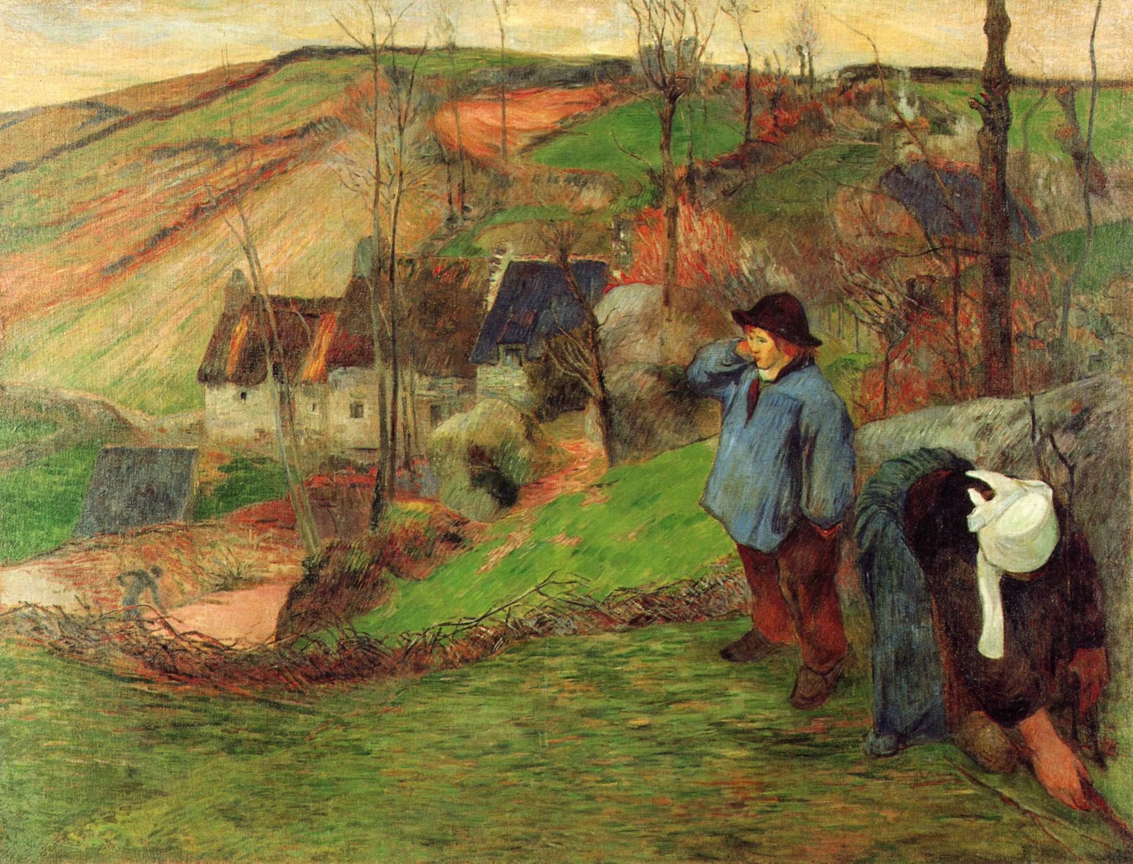 Бретонский пастух, Поль Гоген