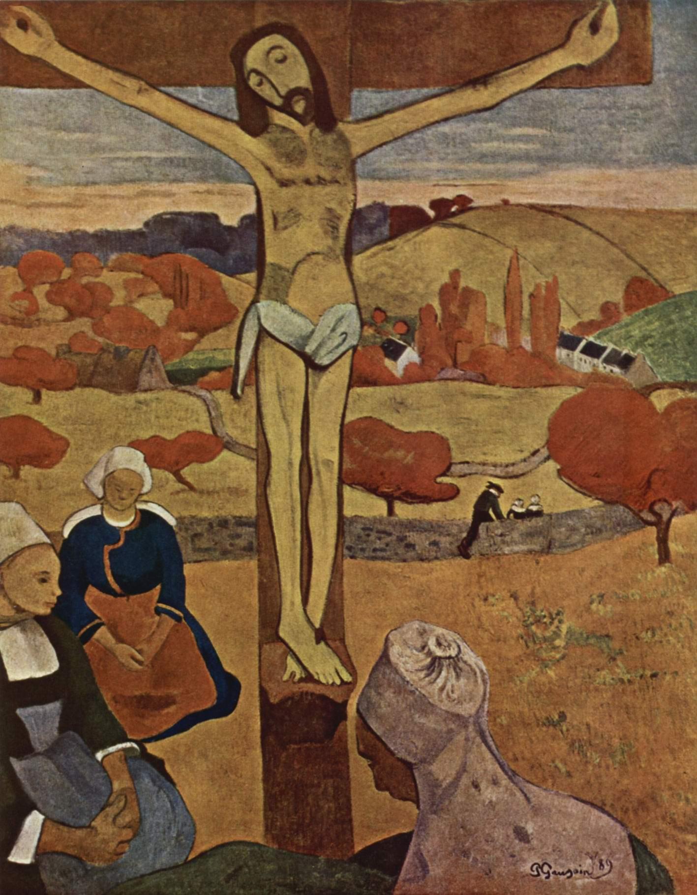 Жёлтый Христос, Поль Гоген