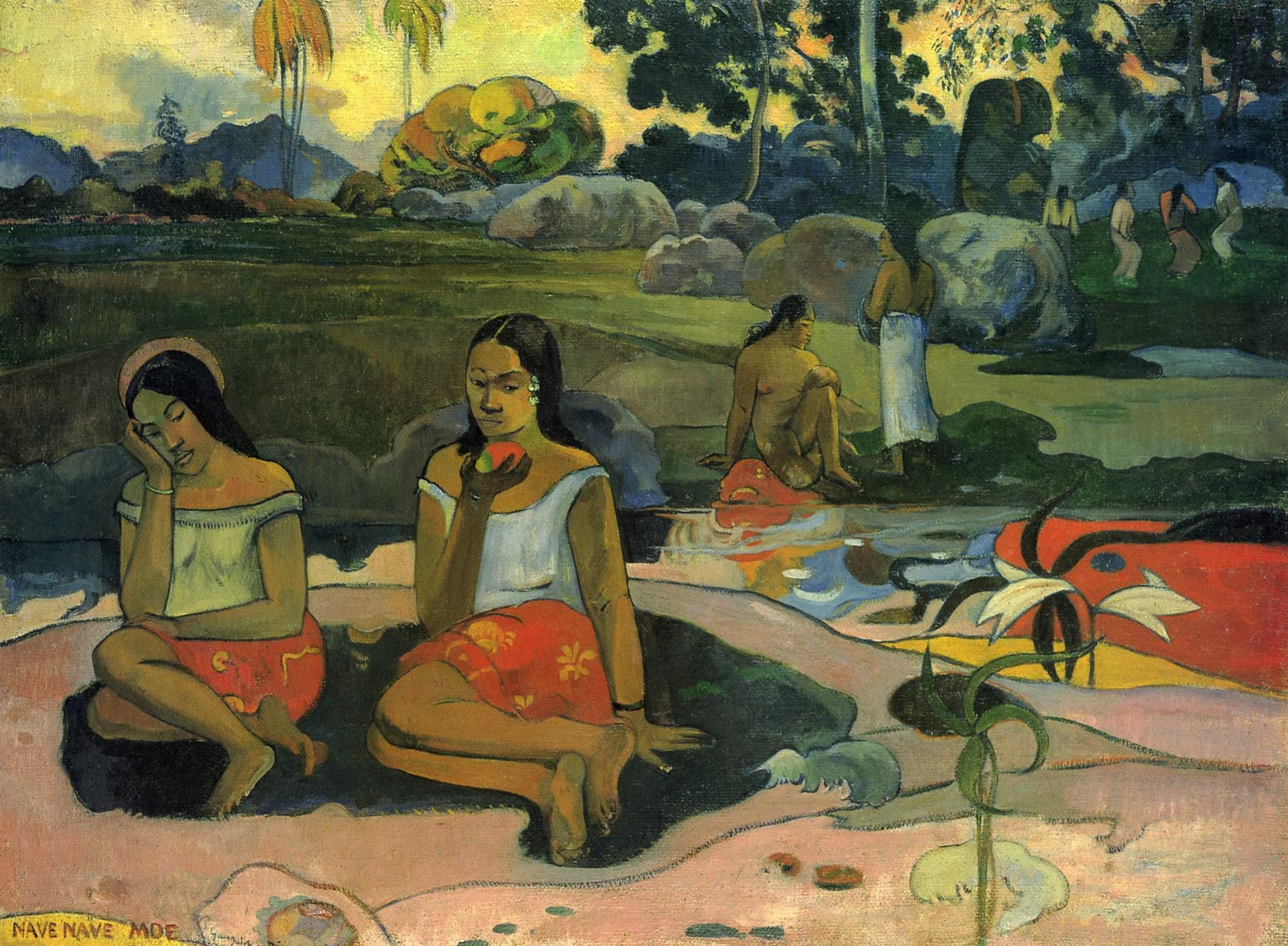Habe Habe Moe (Источник пресной воды), Поль Гоген