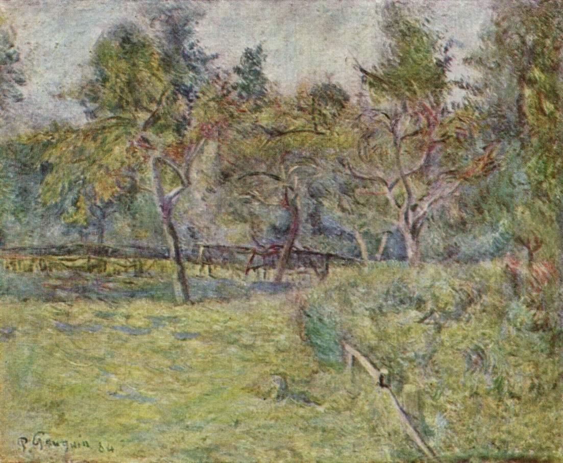 Бретонский пейзаж, Поль Гоген