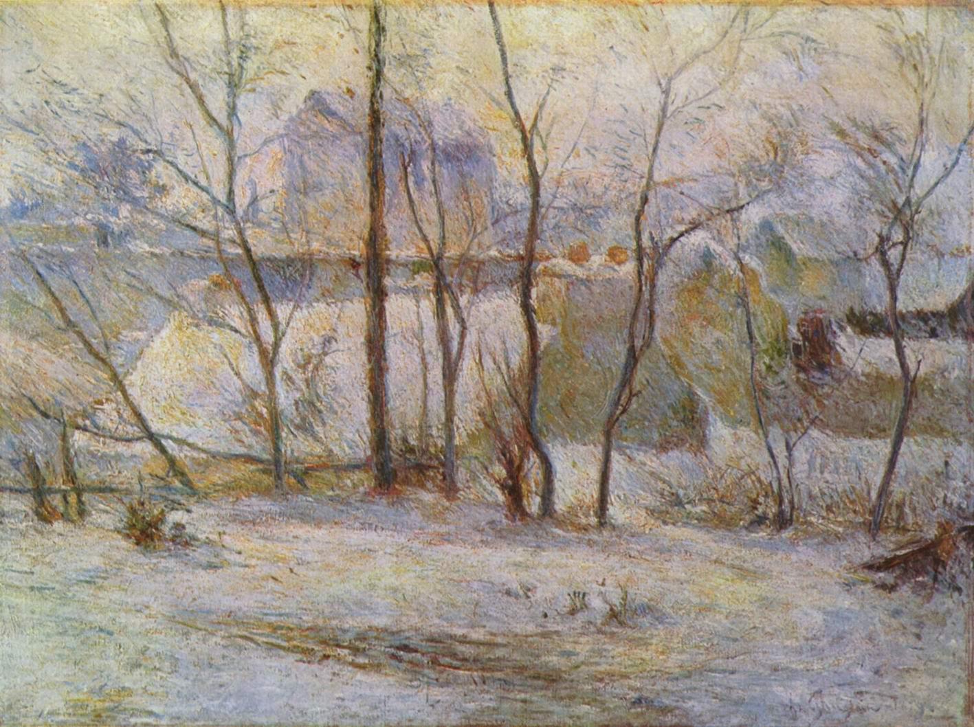 Заснеженный сад, Поль Гоген