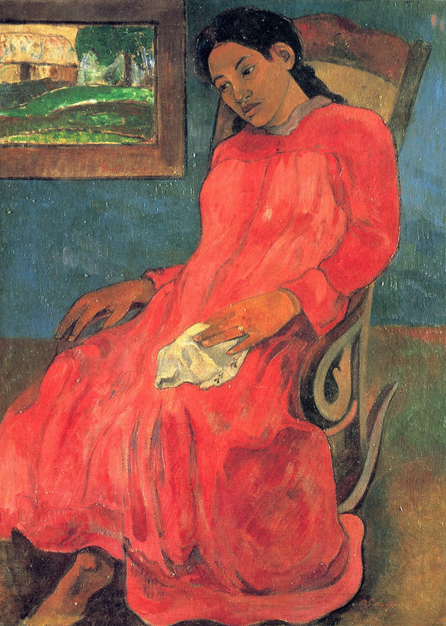 Женщина в красном, Поль Гоген