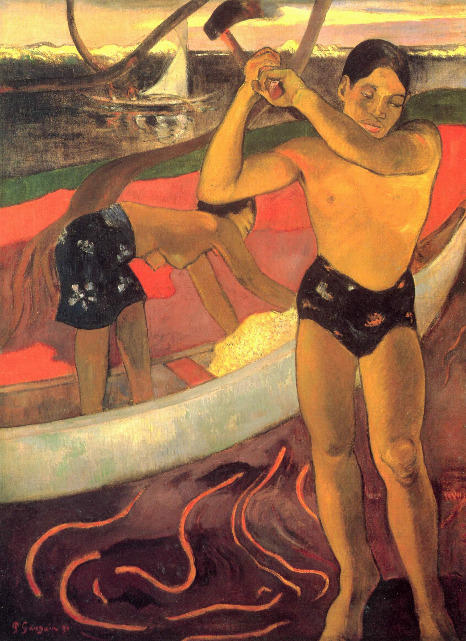 Мужчина с топором, Поль Гоген