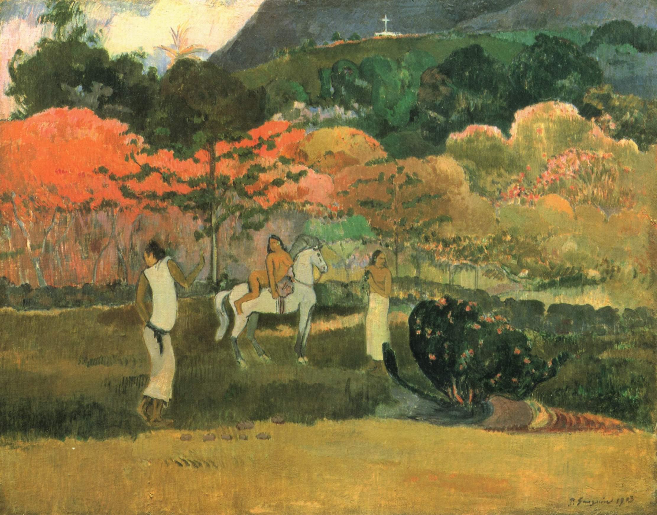 Женщины и белая лошадь, Поль Гоген