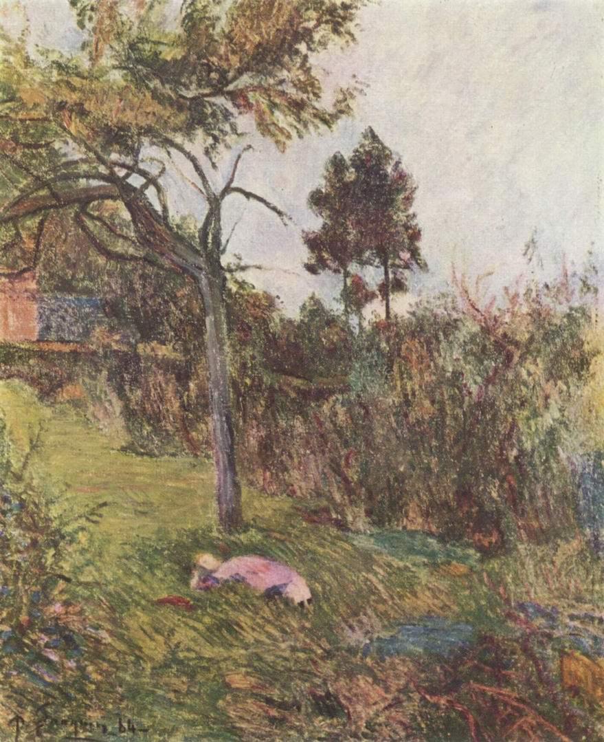 Пейзаж с лежащей женщиной, Поль Гоген
