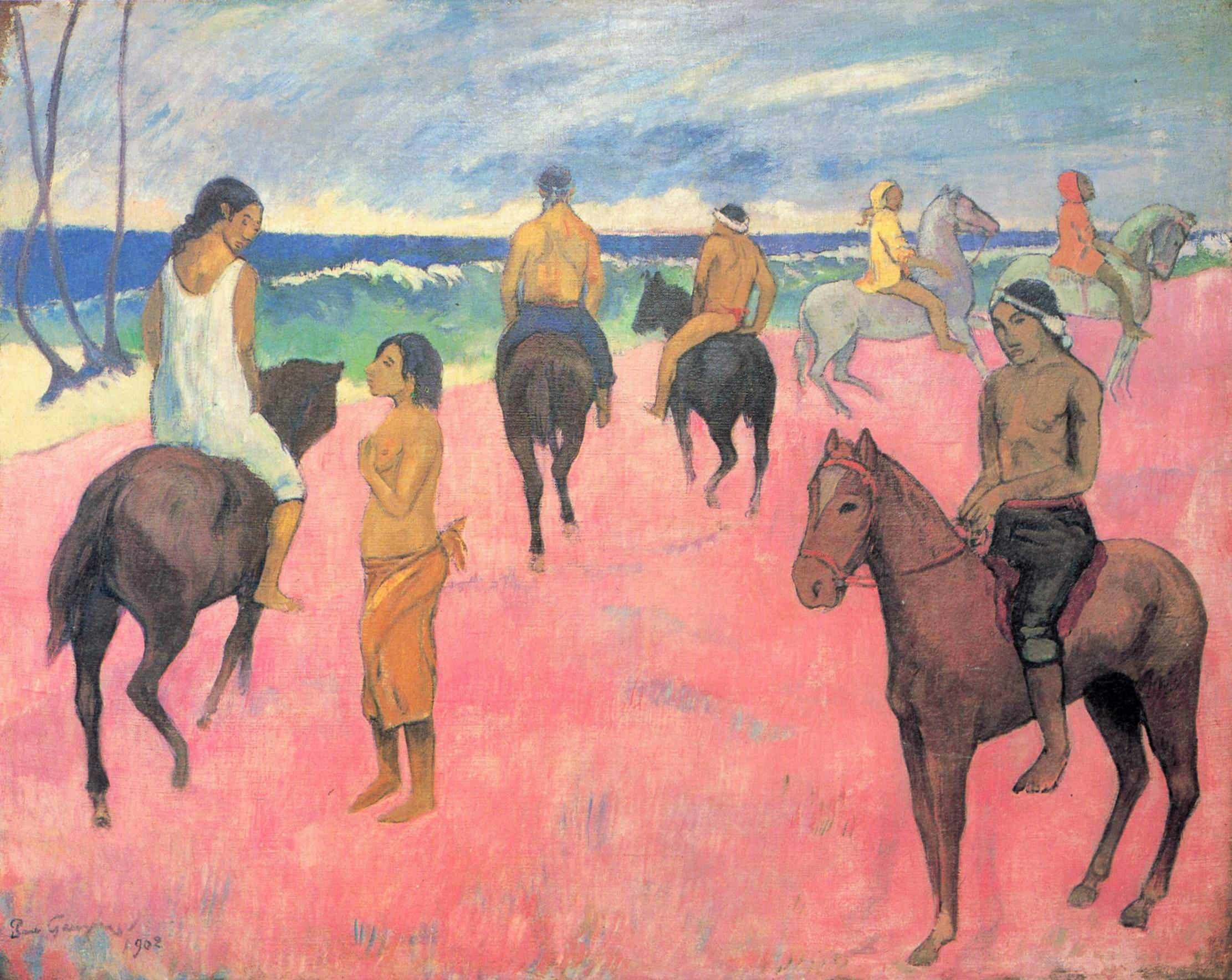 Всадники на побережье, Поль Гоген