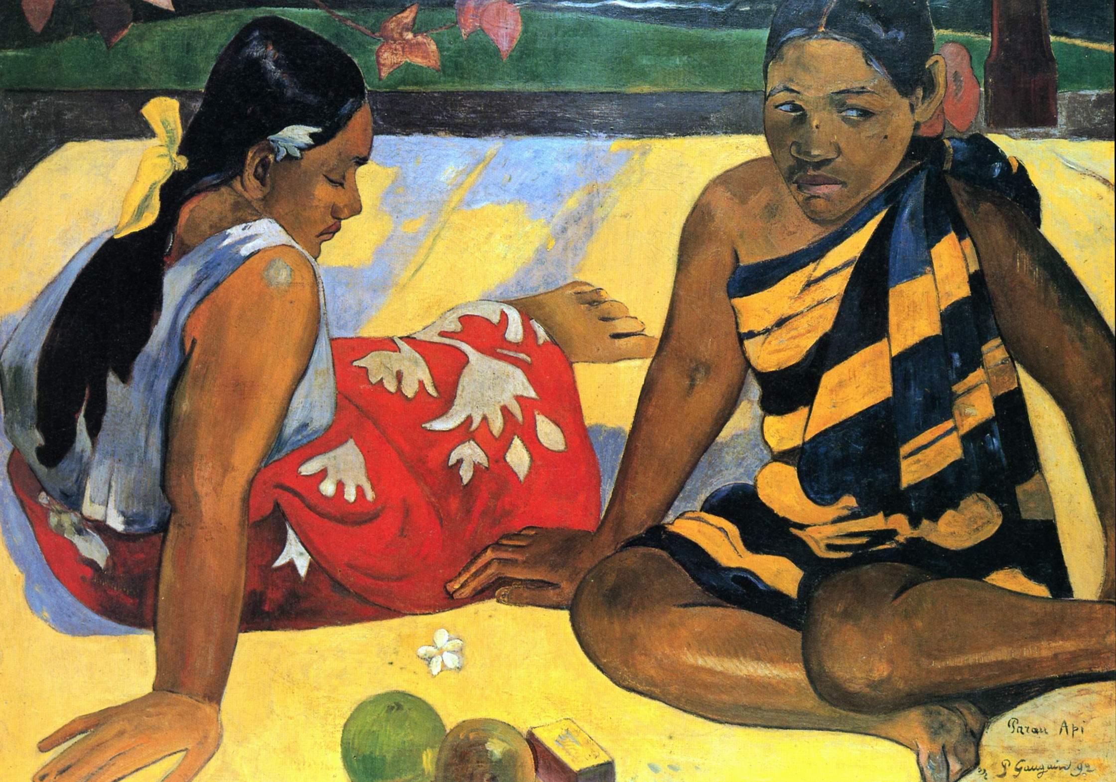 Две таитянки (Что нового, Parau api), Поль Гоген