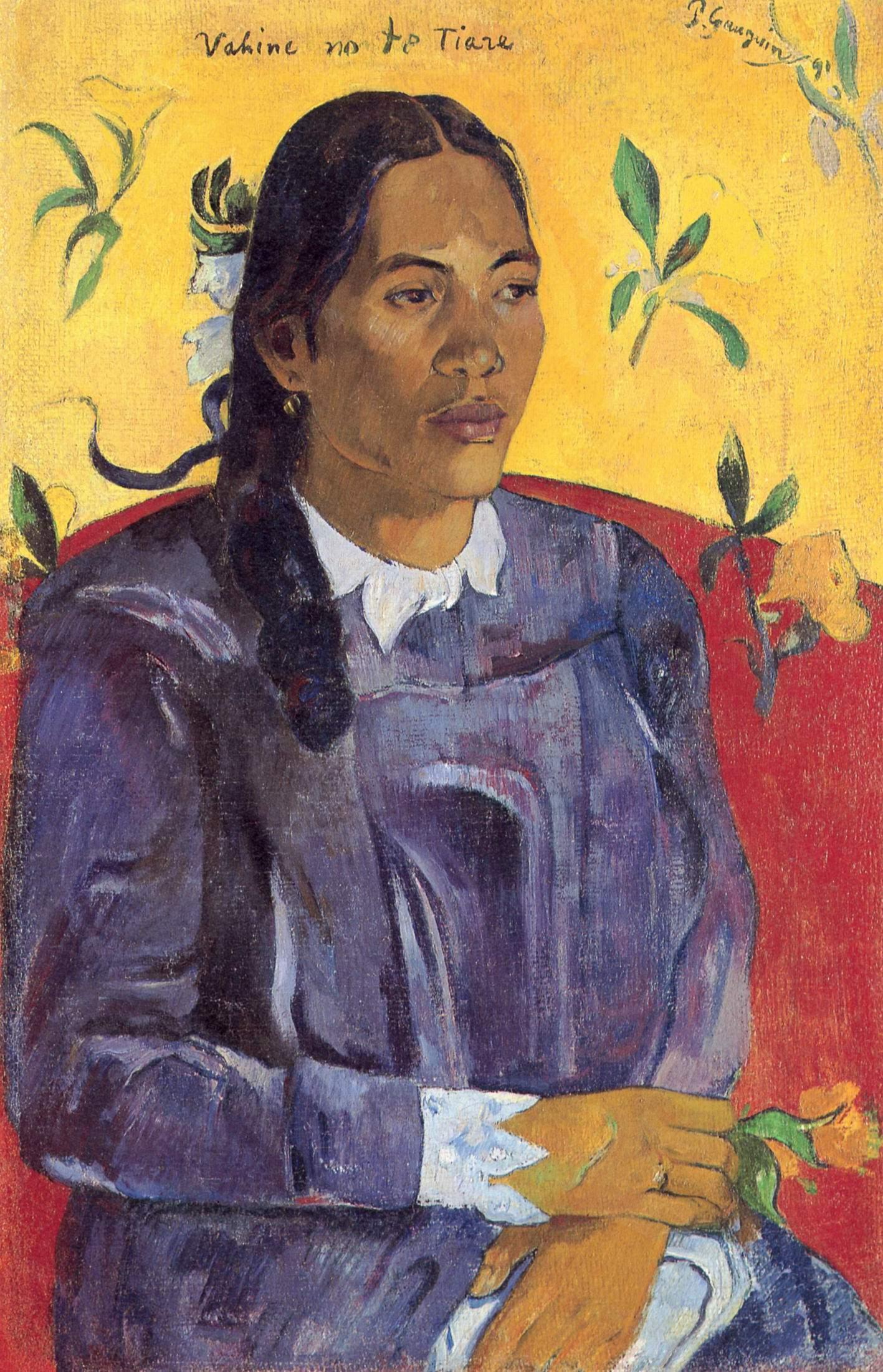 Женщина с цветком, Поль Гоген