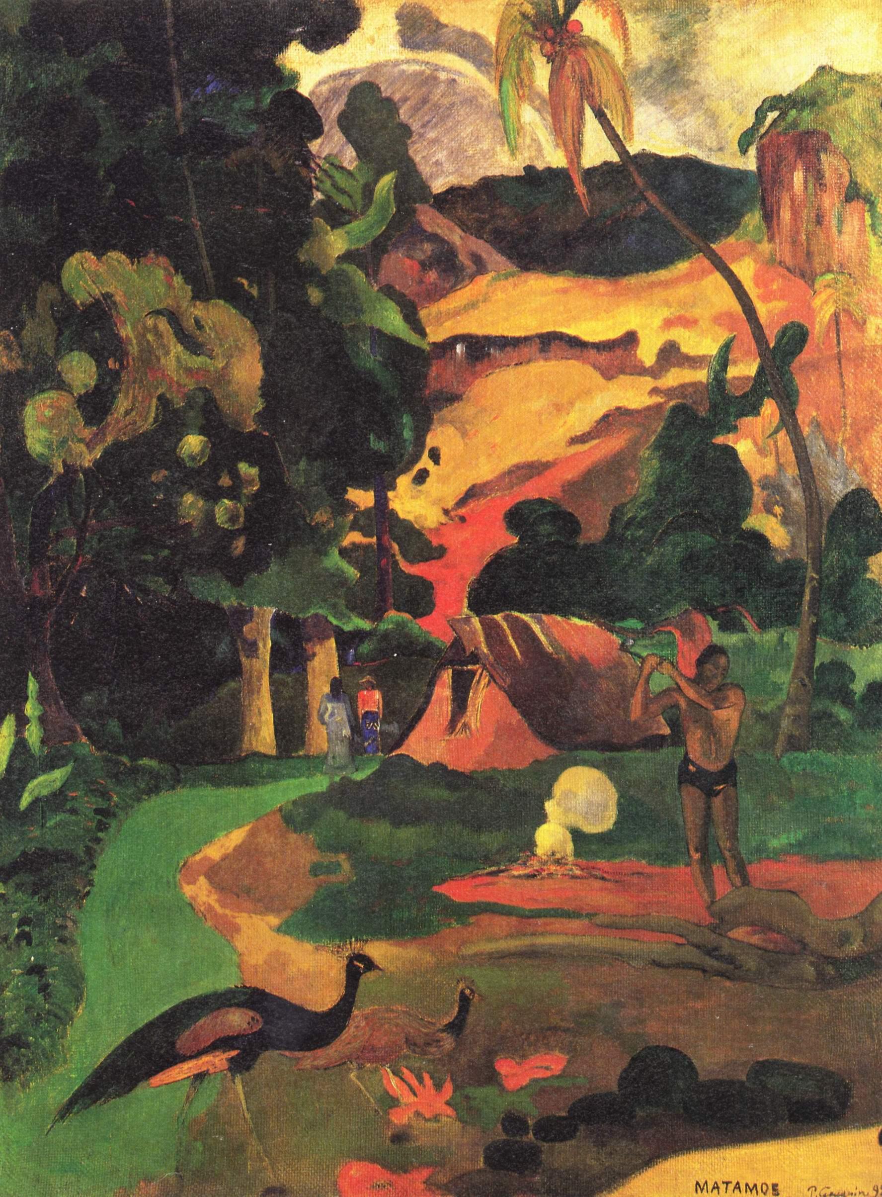 Пейзаж с фазанами (Matamoe), Поль Гоген