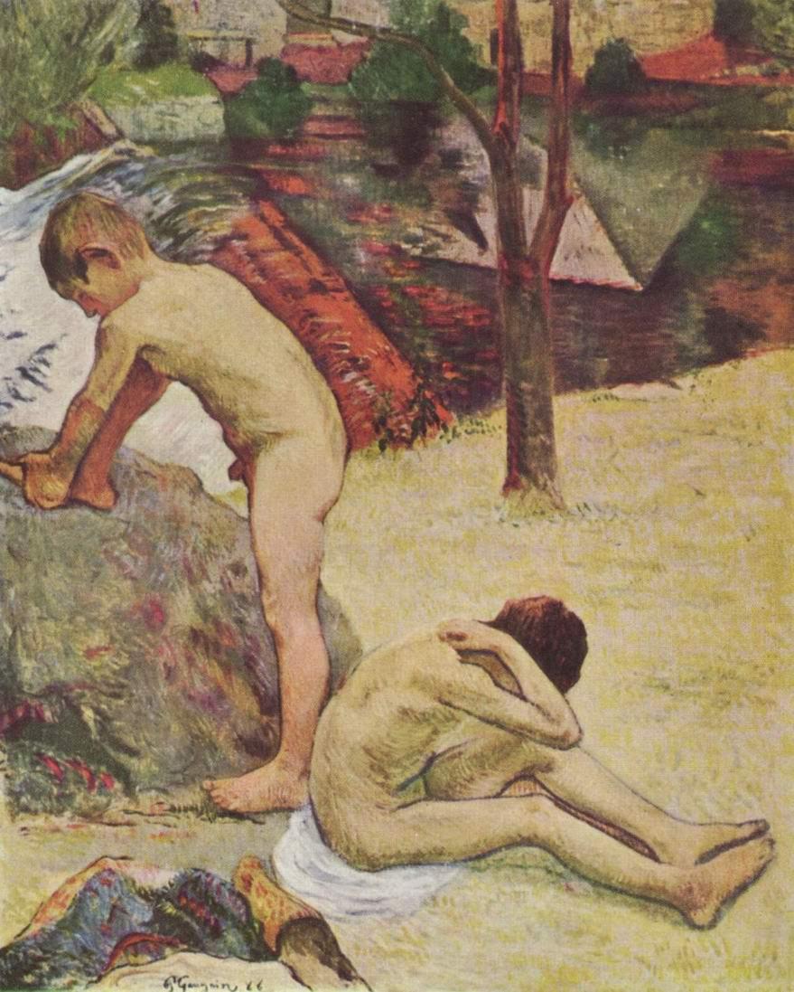 Купание бретонских мальчиков, Поль Гоген