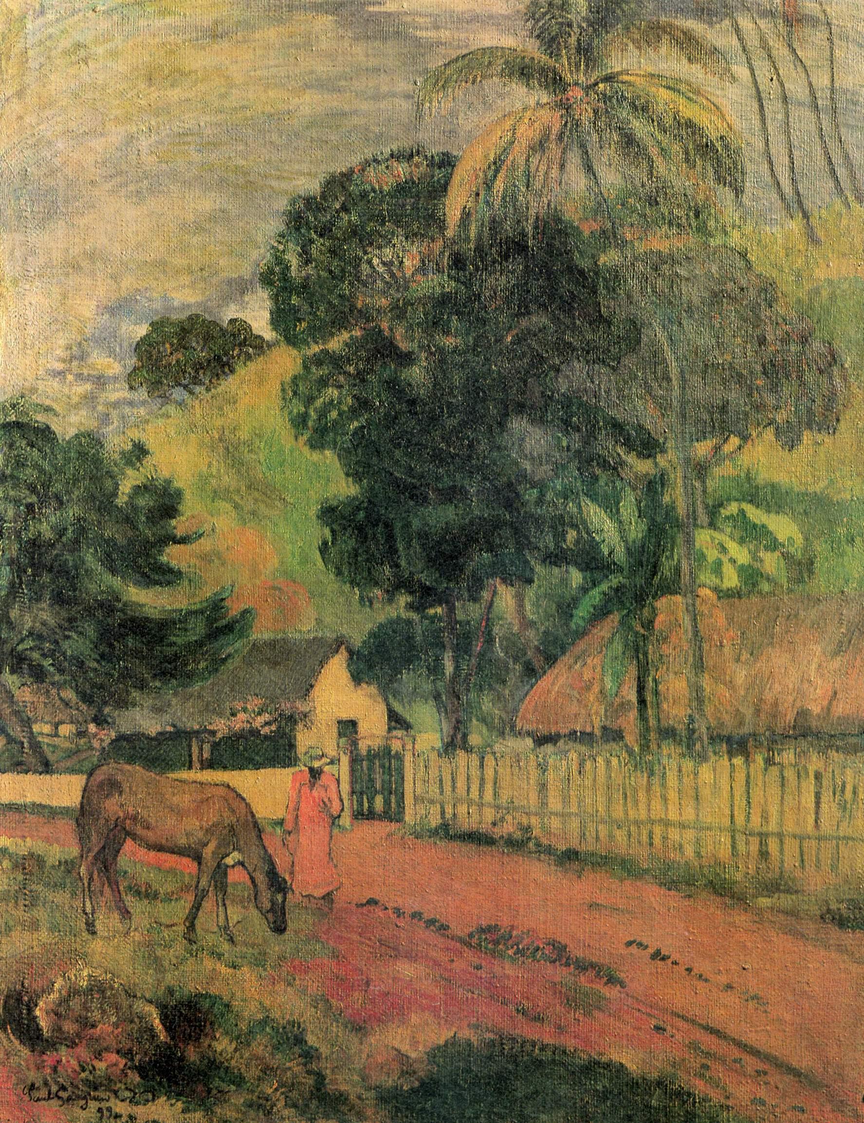 Пейзаж (Лошадь на дороге), Поль Гоген