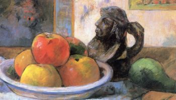 Натюрморт с яблоками, грушей и кувшином